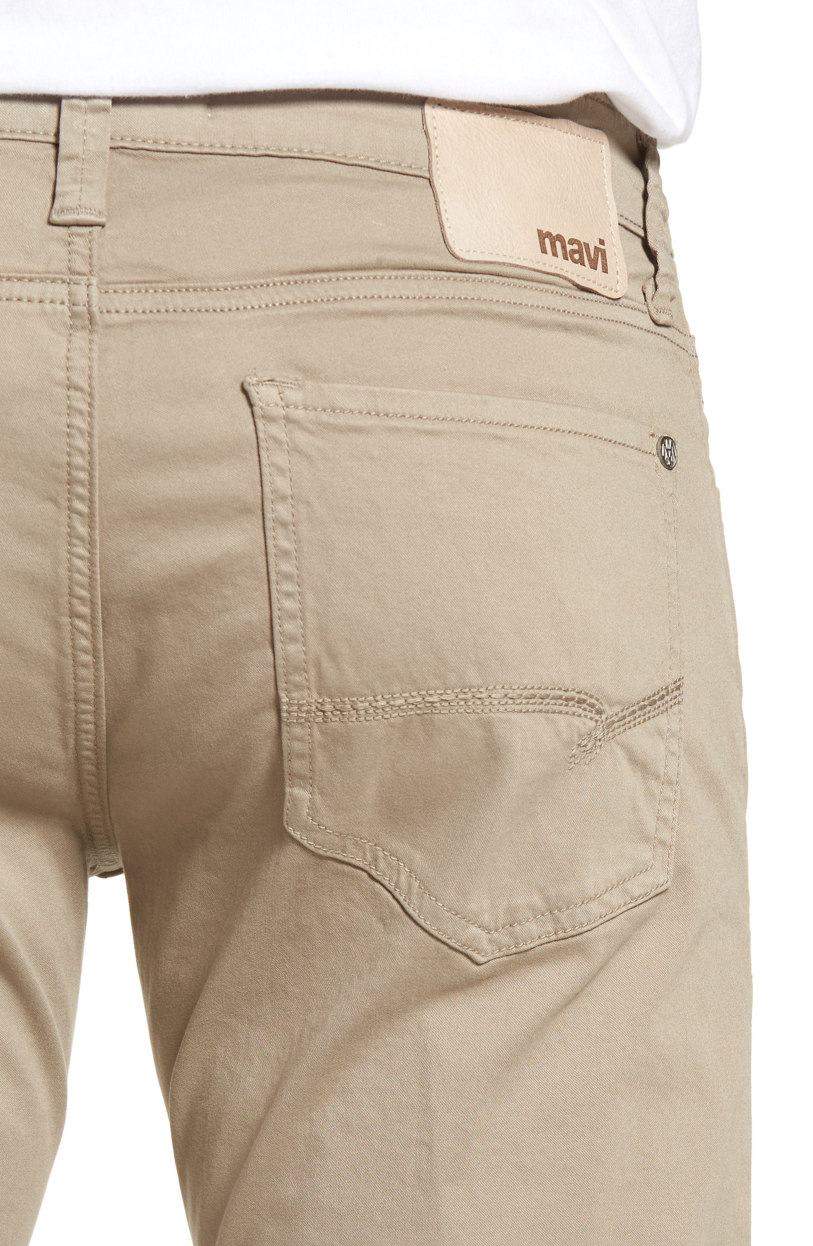 Zach Straight Leg Twill Pants,                             Alternate thumbnail 4, color,                             BEIGE TWILL