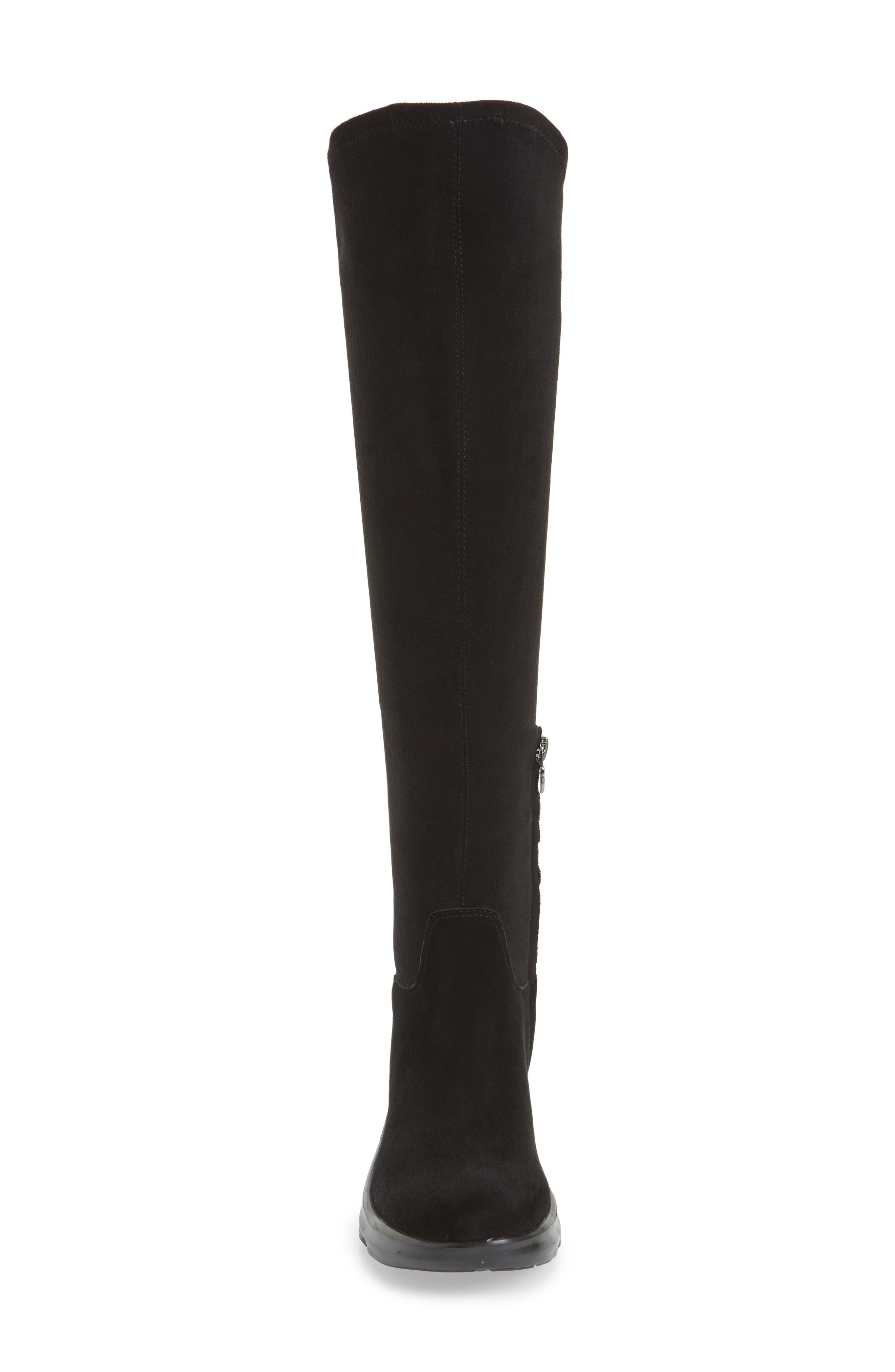 Kendra Over the Knee Water-Resistant Boot,                             Alternate thumbnail 4, color,                             001
