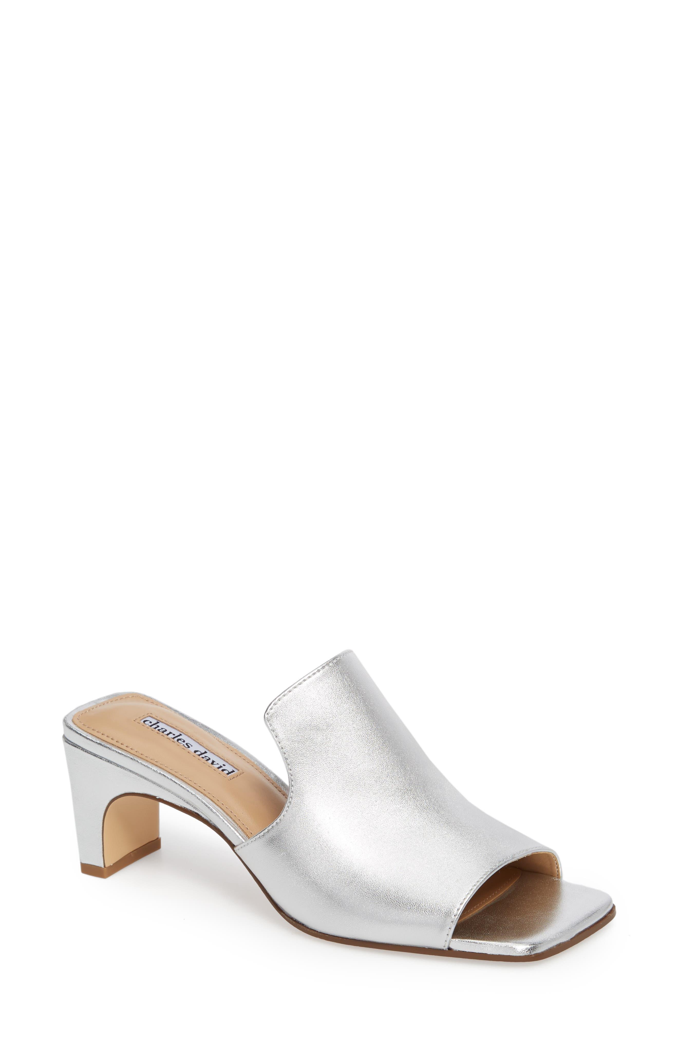 Charles David Herald Slide Sandal, Metallic