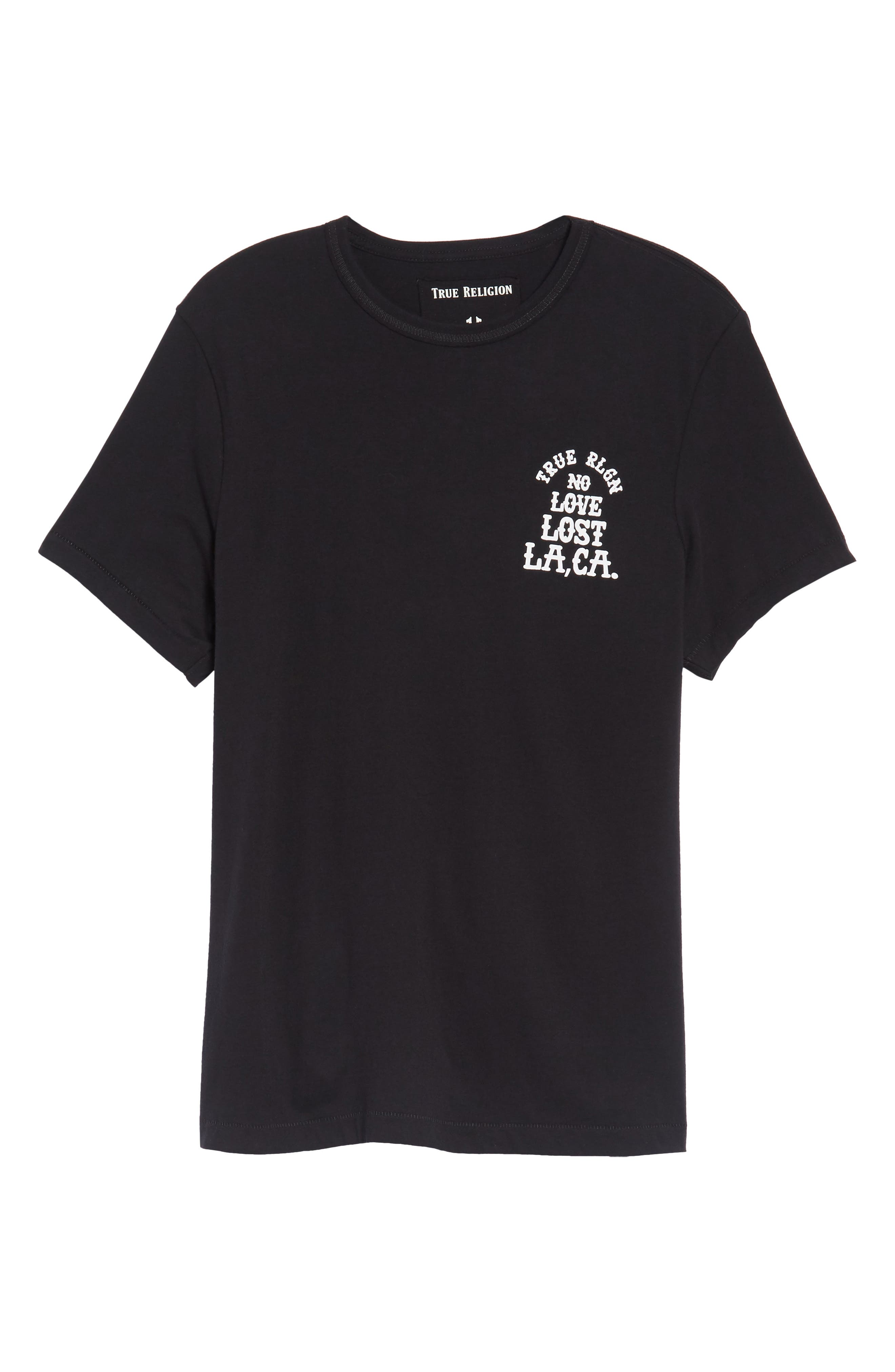 No Love Lost T-Shirt,                             Alternate thumbnail 6, color,                             001
