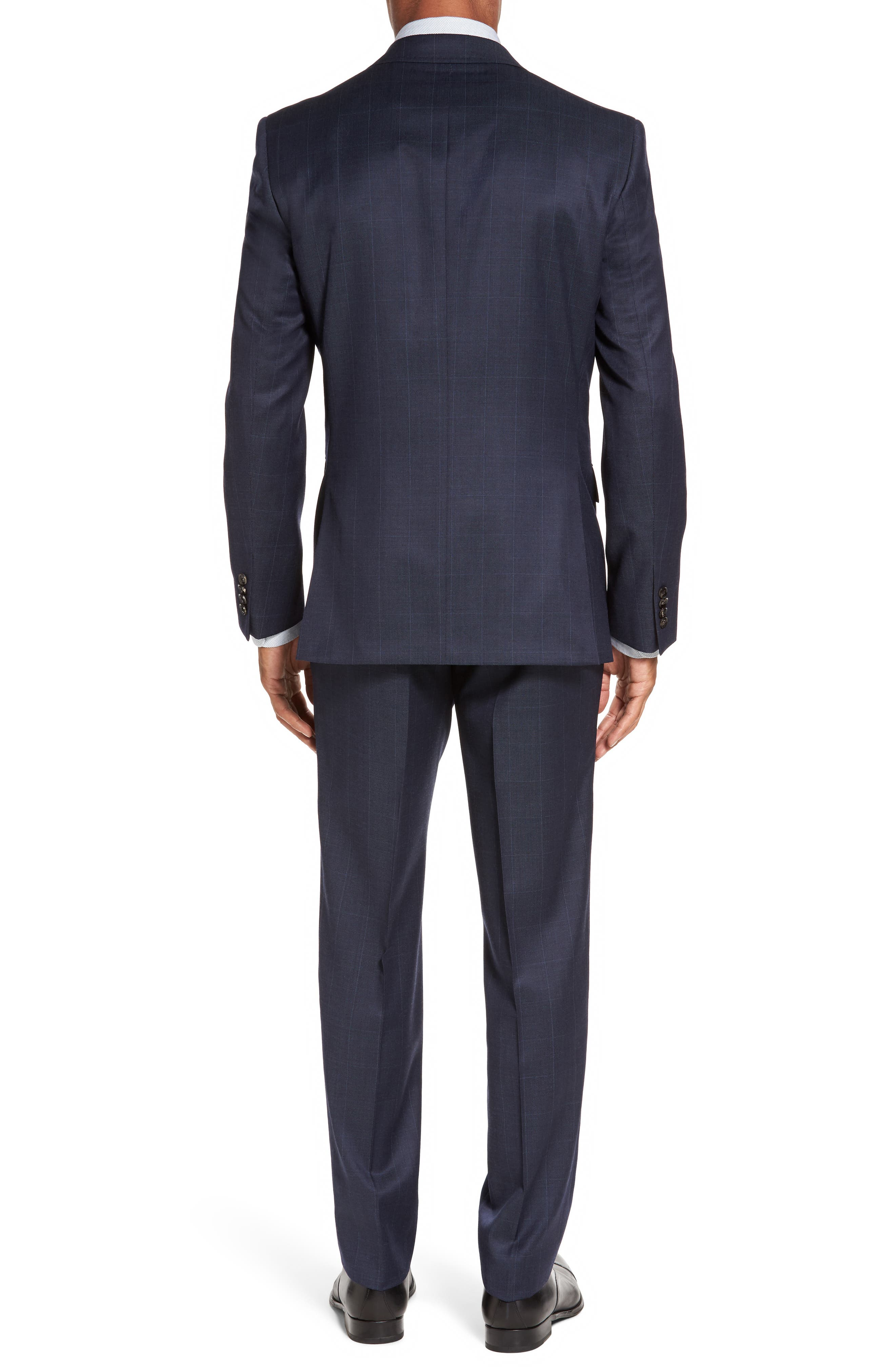 Jay Trim Fit Windowpane Wool Suit,                             Alternate thumbnail 2, color,