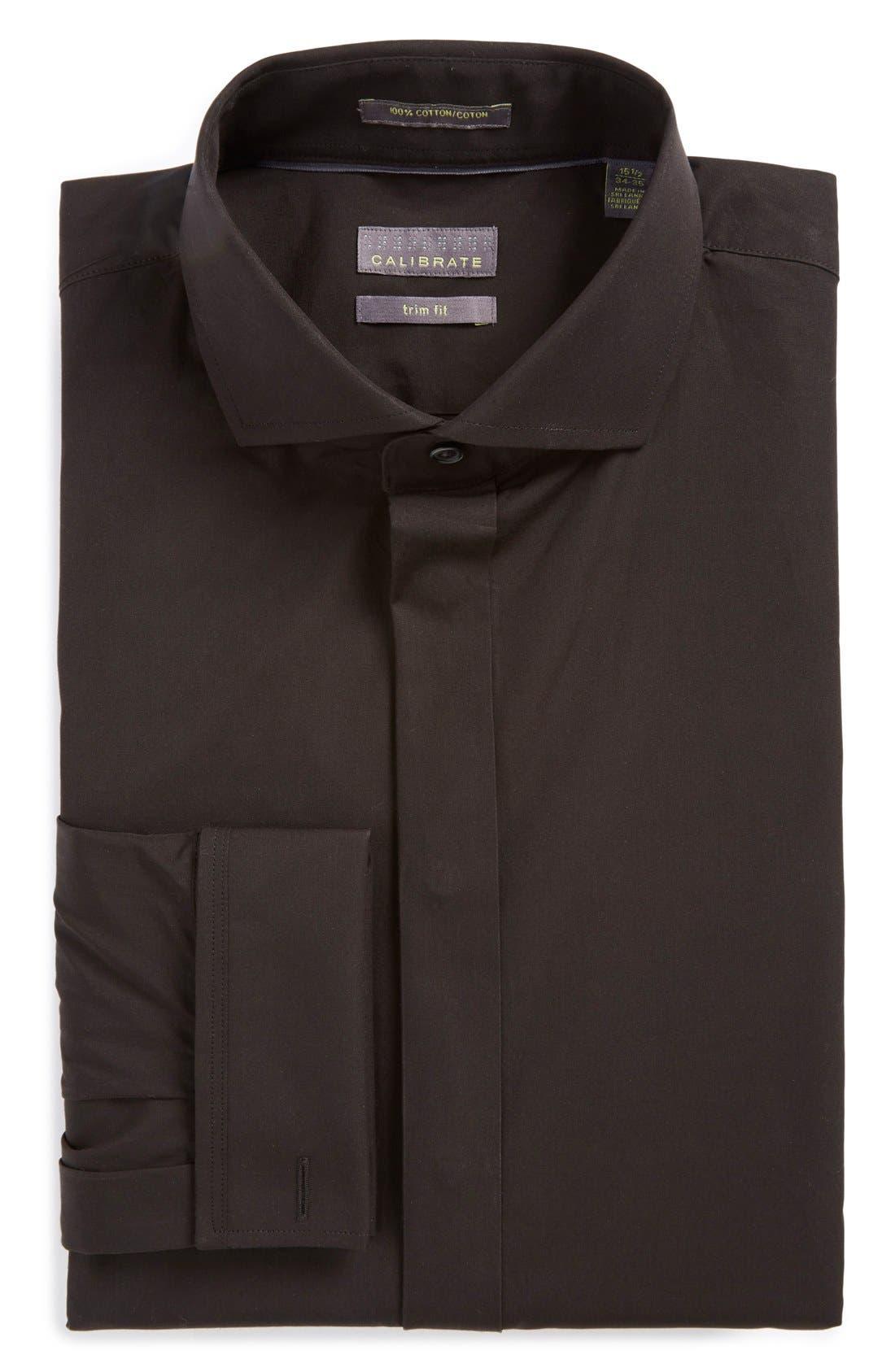 Trim Fit Solid Tuxedo Shirt,                             Main thumbnail 2, color,