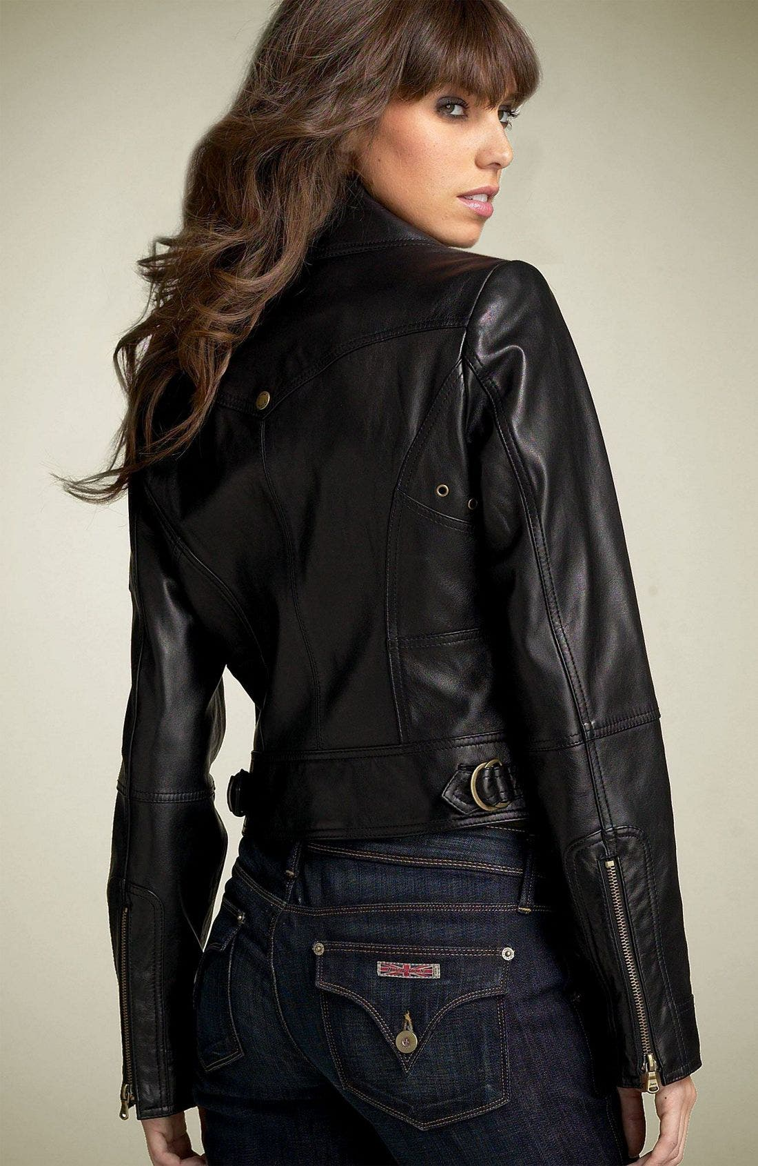 by Marciano Leather Motorcycle Jacket,                             Alternate thumbnail 2, color,                             001