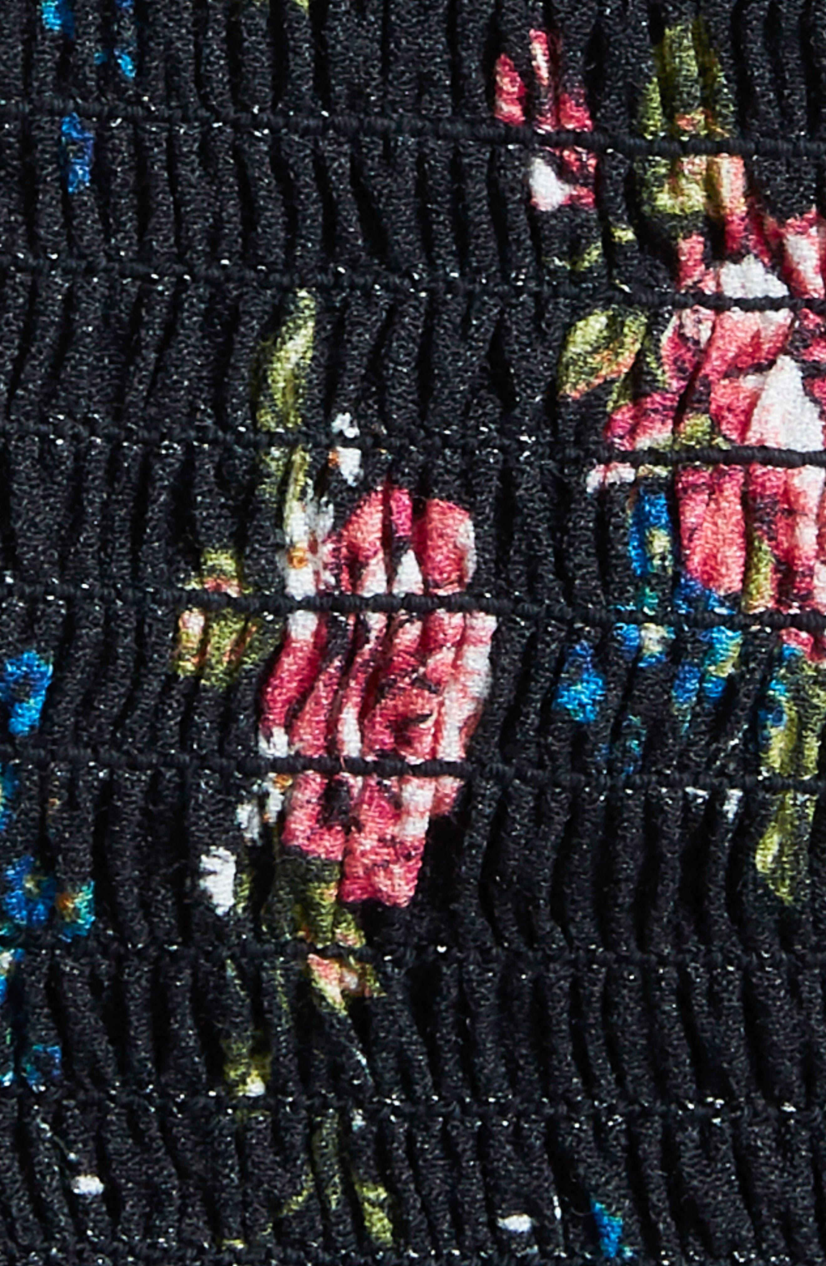 Ellie Smocked Crop Top,                             Alternate thumbnail 4, color,