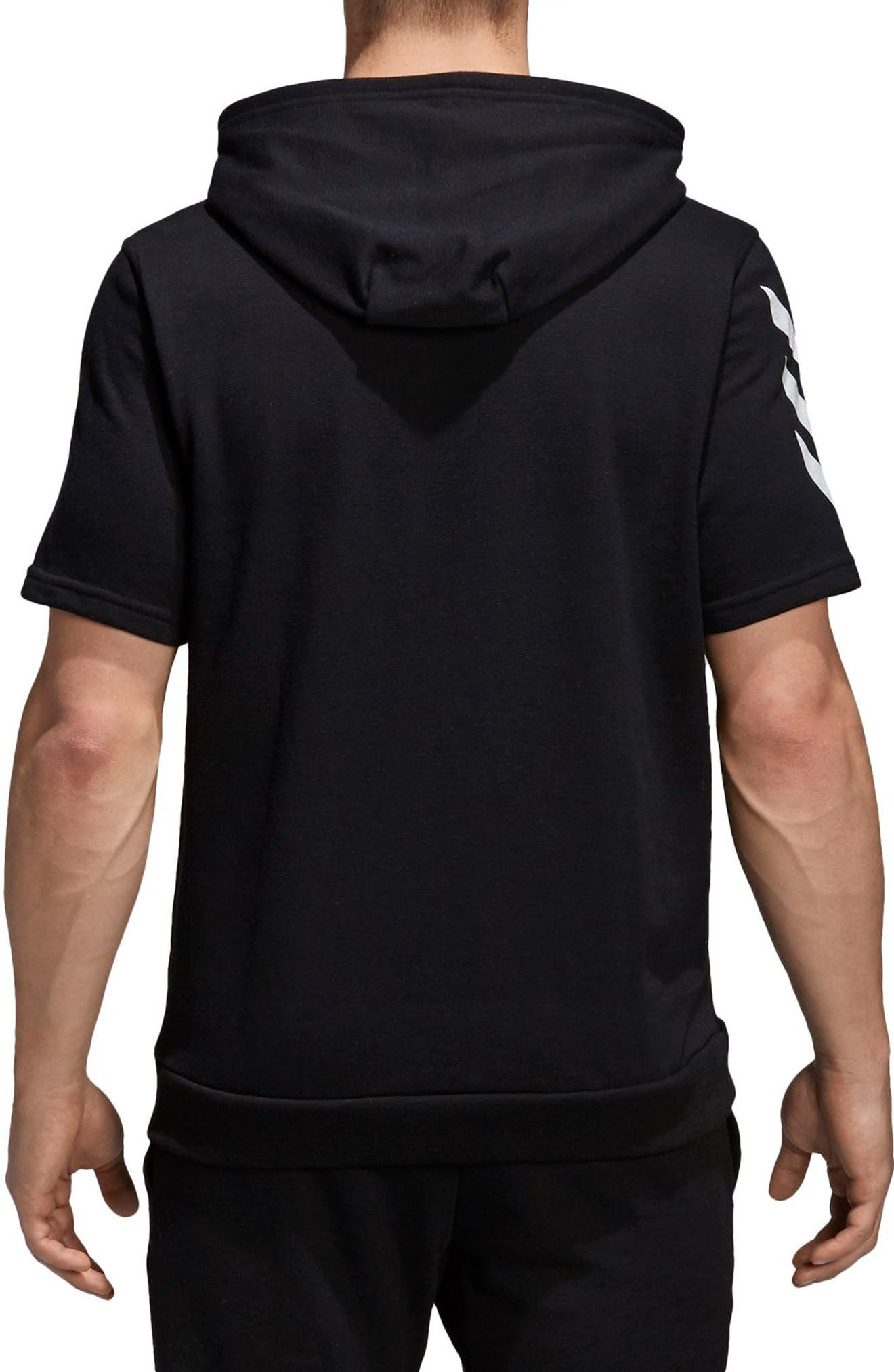 Pick-Up Shooter Short Sleeve Hoodie,                             Alternate thumbnail 2, color,                             001