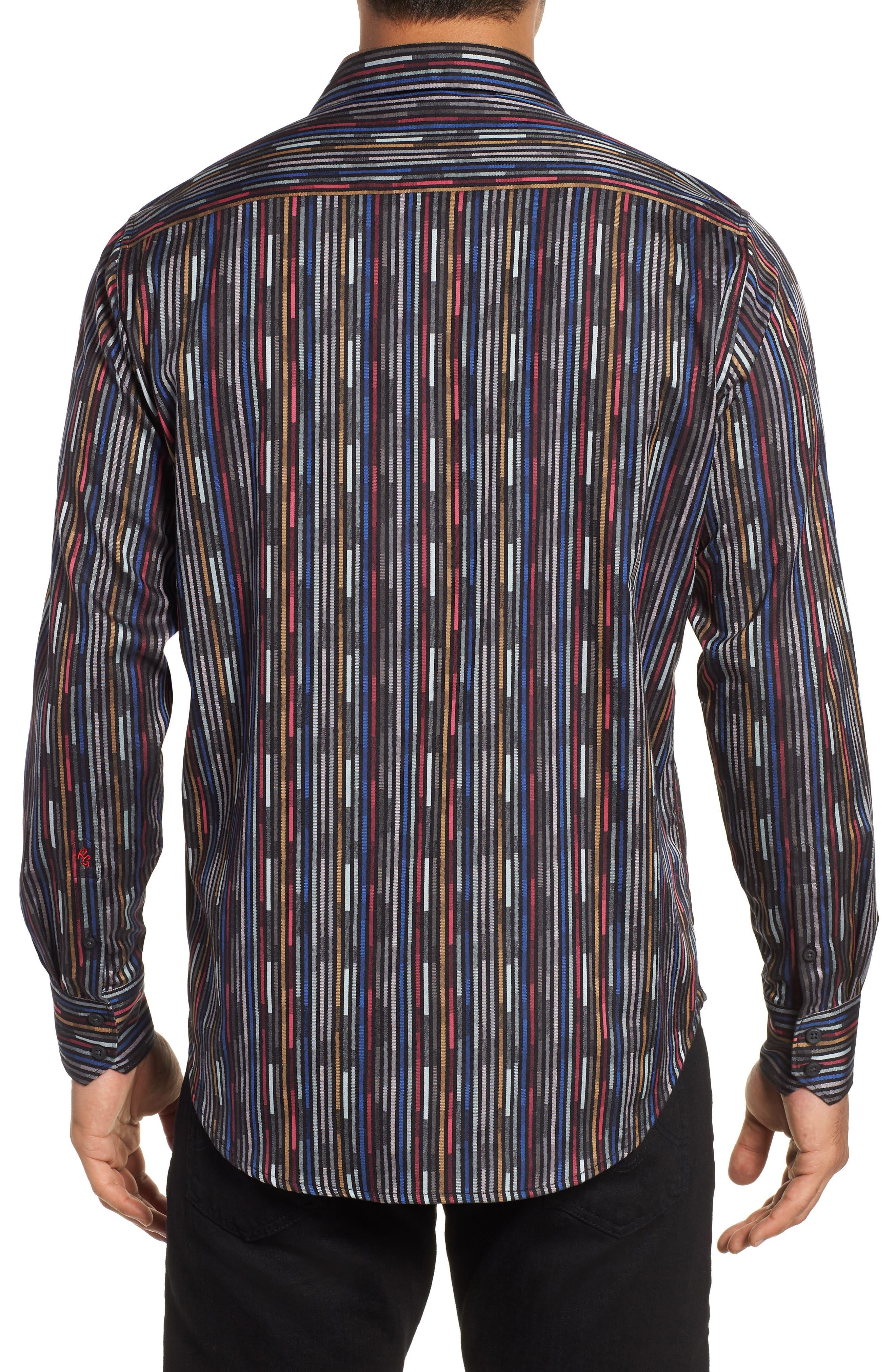 Shepherd Classic Fit Sport Shirt,                             Alternate thumbnail 3, color,                             FOREST