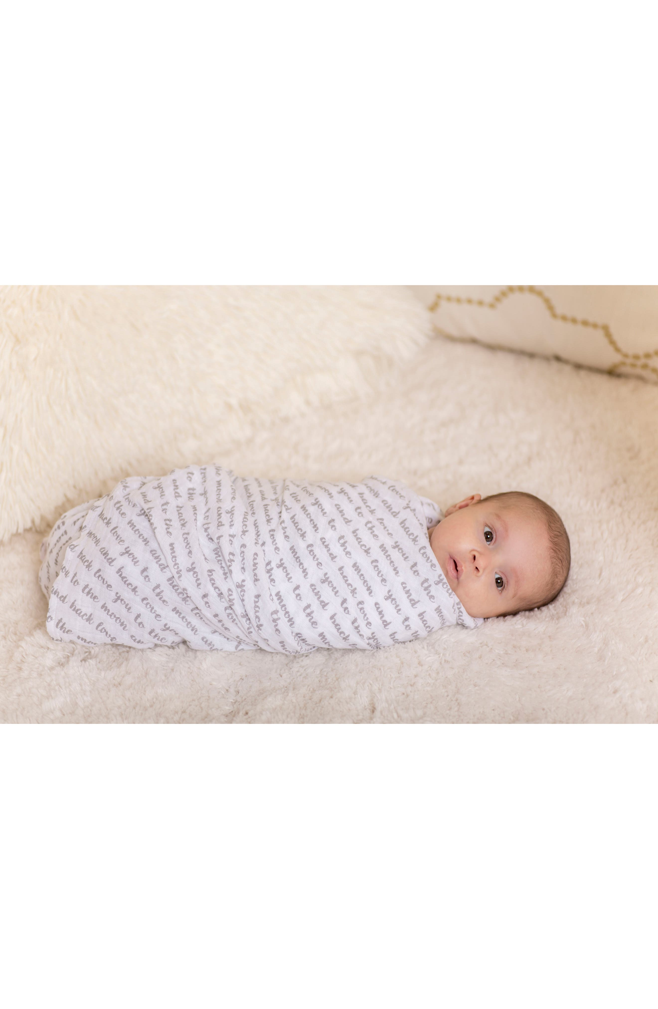 2-Pack Muslin Swaddling Cloths & Car Seat Cover Set,                             Alternate thumbnail 6, color,                             LOVE AND LUNA