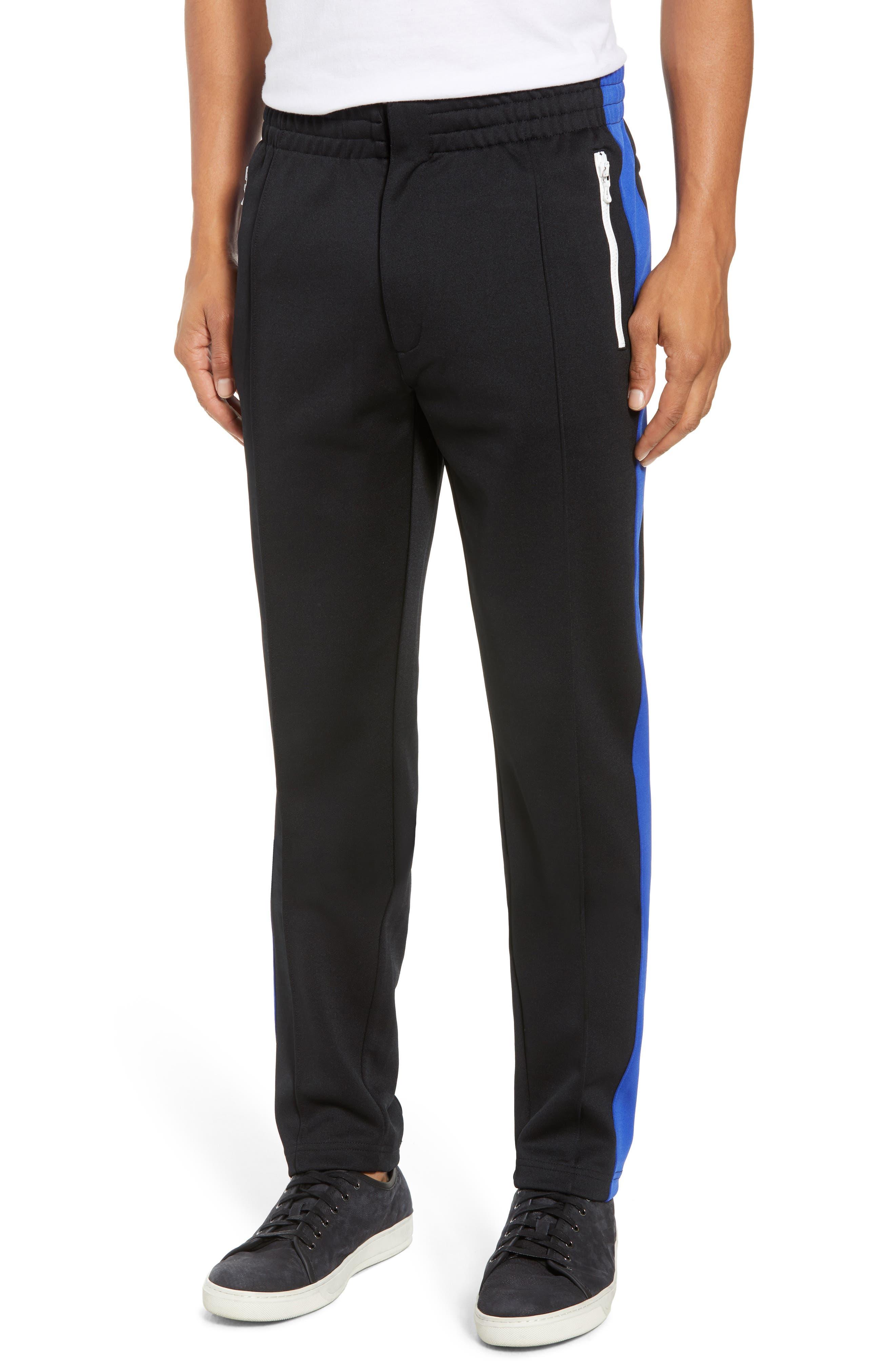 Stripe Track Pants,                             Main thumbnail 1, color,                             BLUE/ WHITE/ BLACK