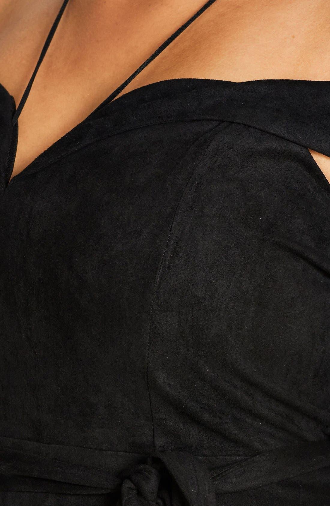 Ooh La La Faux Suede Dress,                             Alternate thumbnail 15, color,