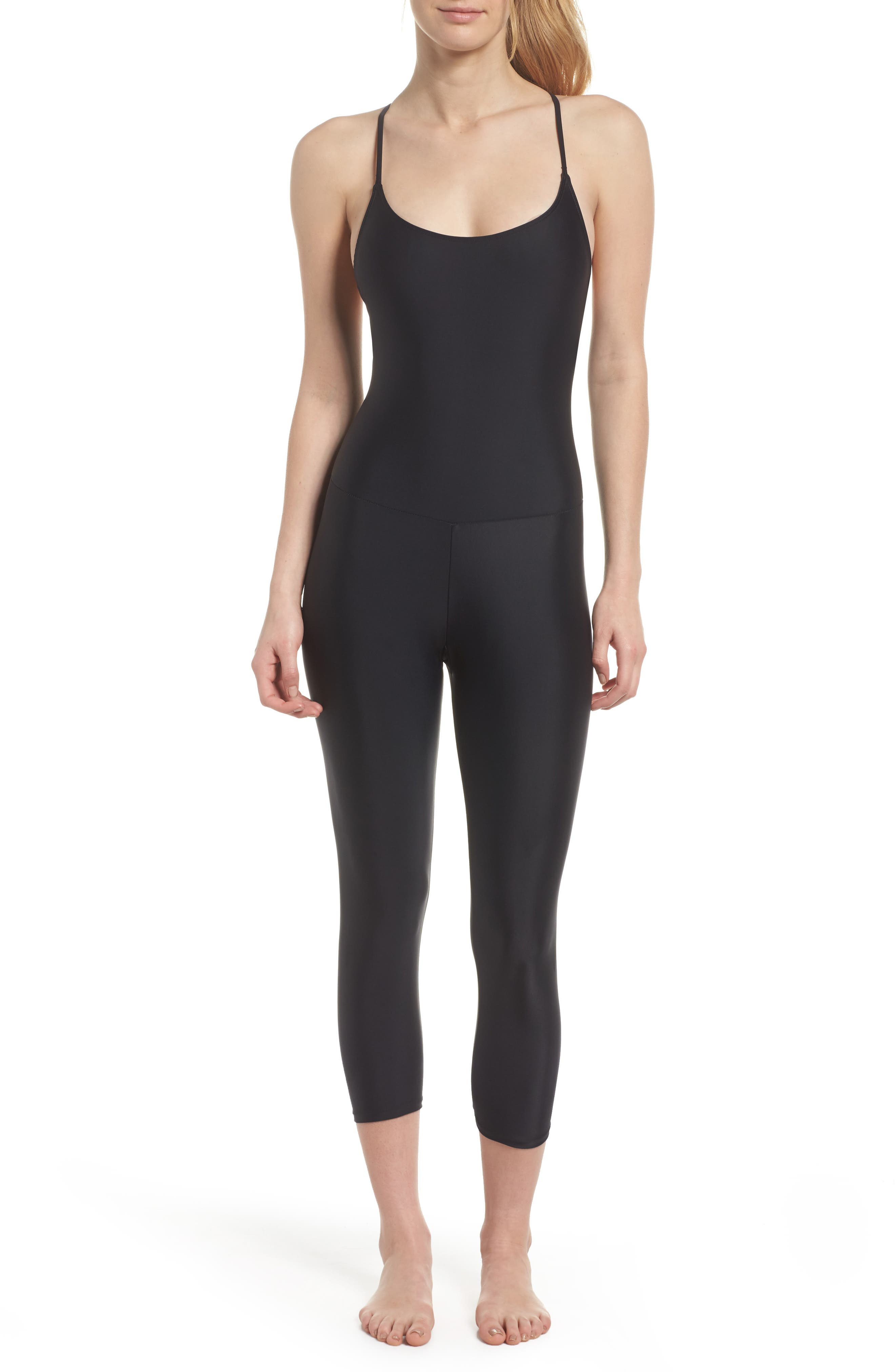 Long Leotard,                             Main thumbnail 1, color,                             BLACK