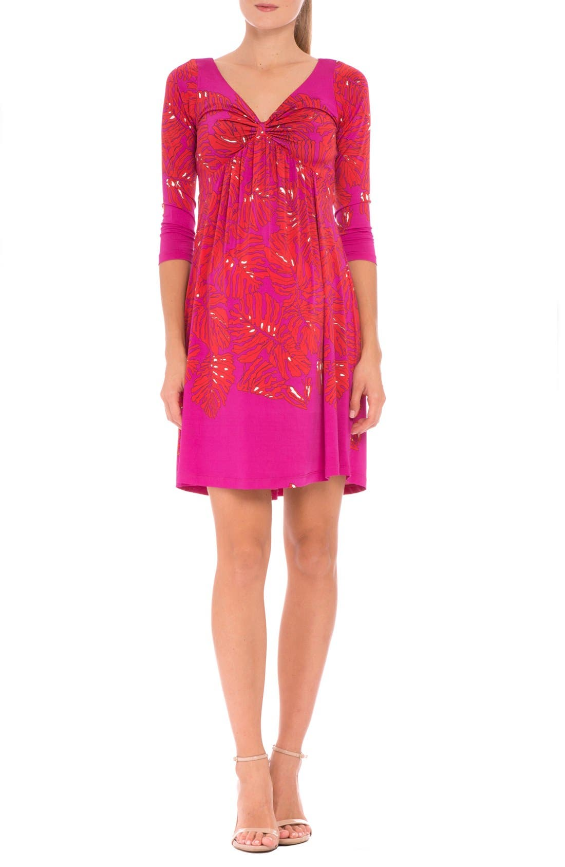 'Scarlet' Print Maternity Dress,                         Main,                         color, RED