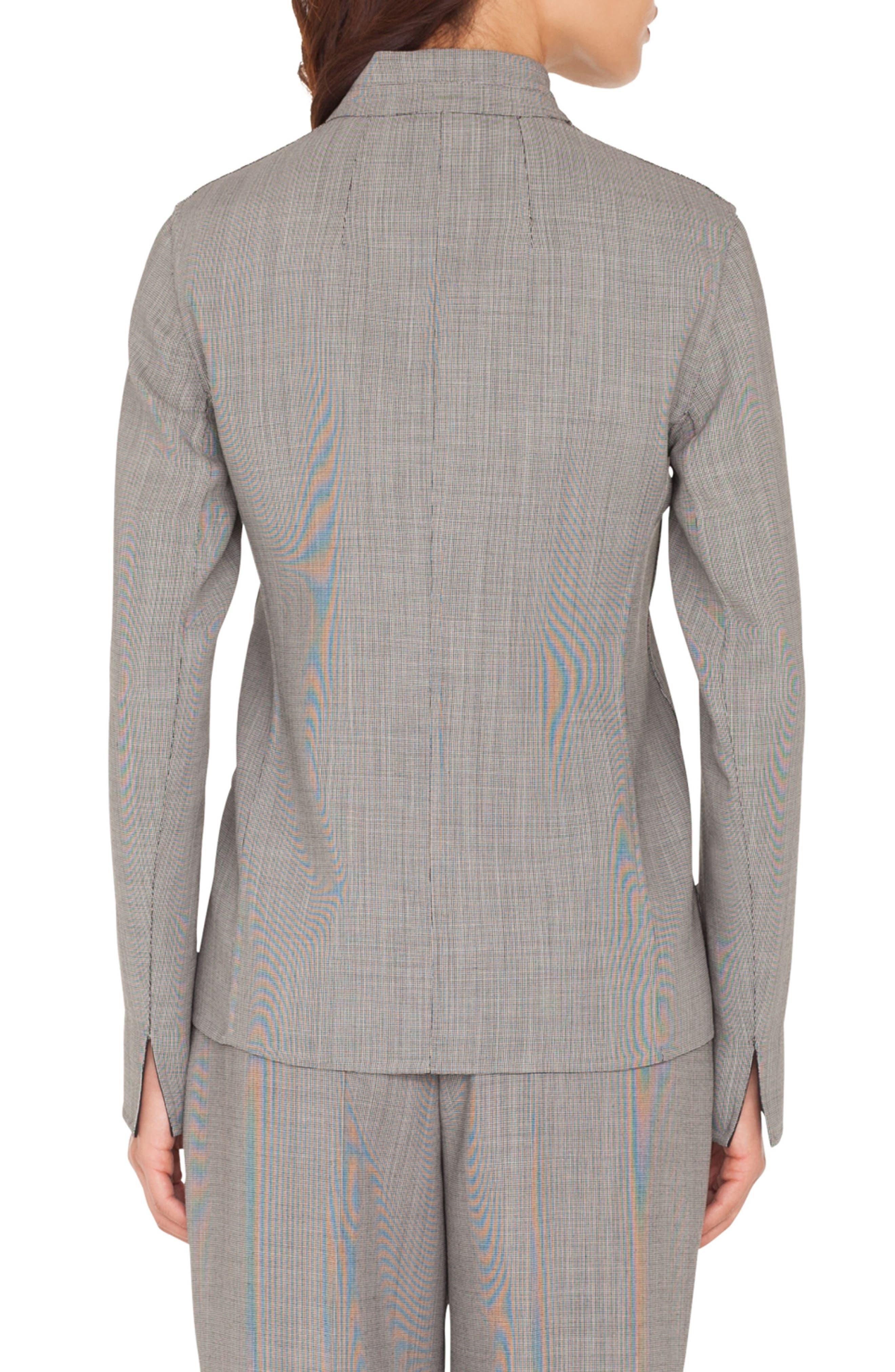 Reversible Double Face Wool Blend Blazer,                             Alternate thumbnail 2, color,                             983 BLACK-PAPER