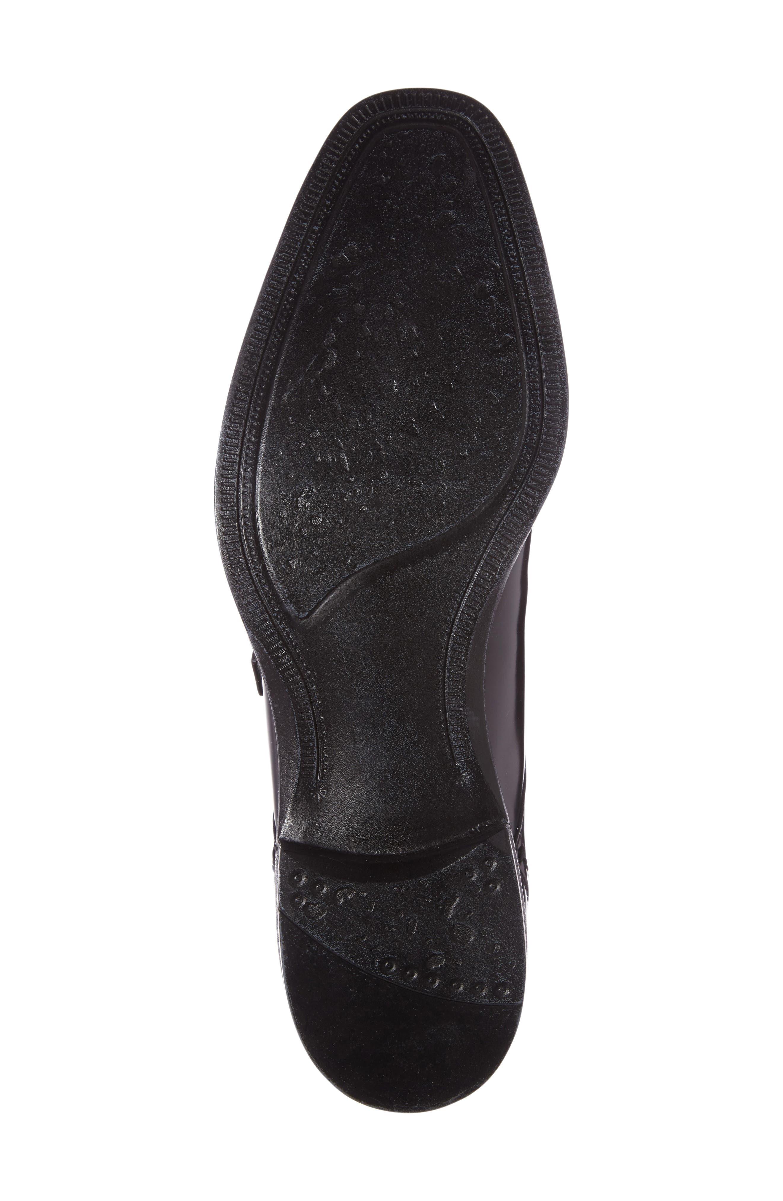 Left Side Monk Strap Shoe,                             Alternate thumbnail 4, color,                             001