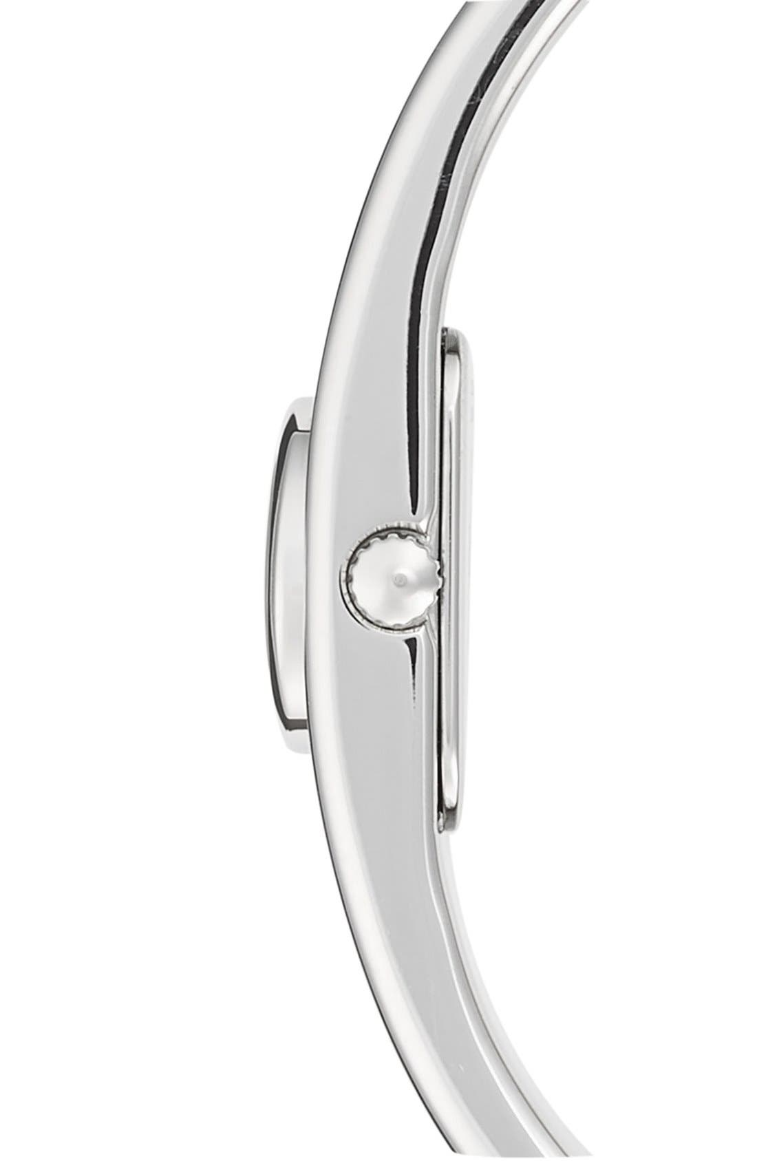 'Scout' Etched Bangle Watch, 16mm,                             Alternate thumbnail 3, color,                             SILVER/ WHITE