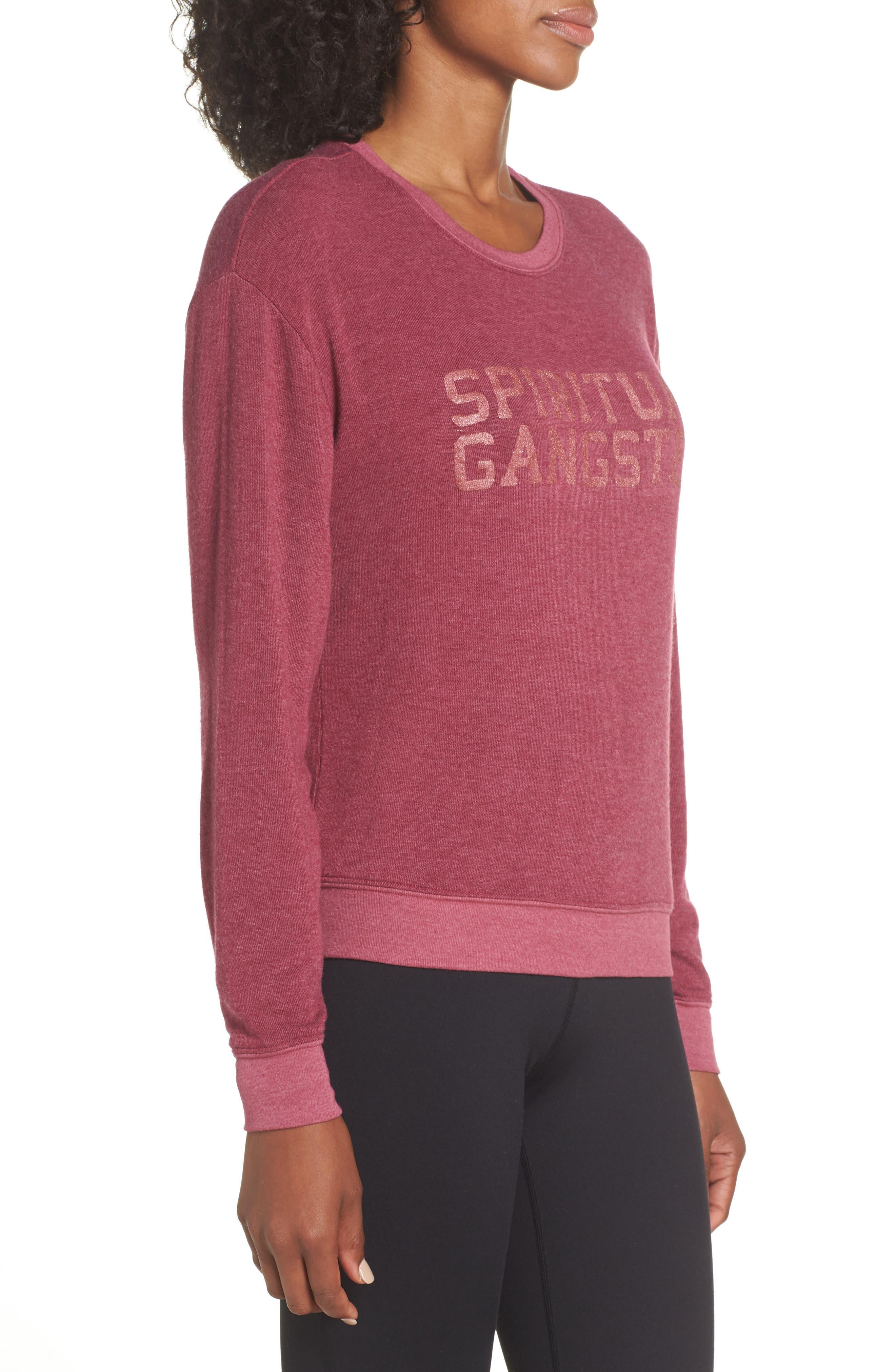 Varsity Crop Sweatshirt,                             Alternate thumbnail 3, color,                             AMOR