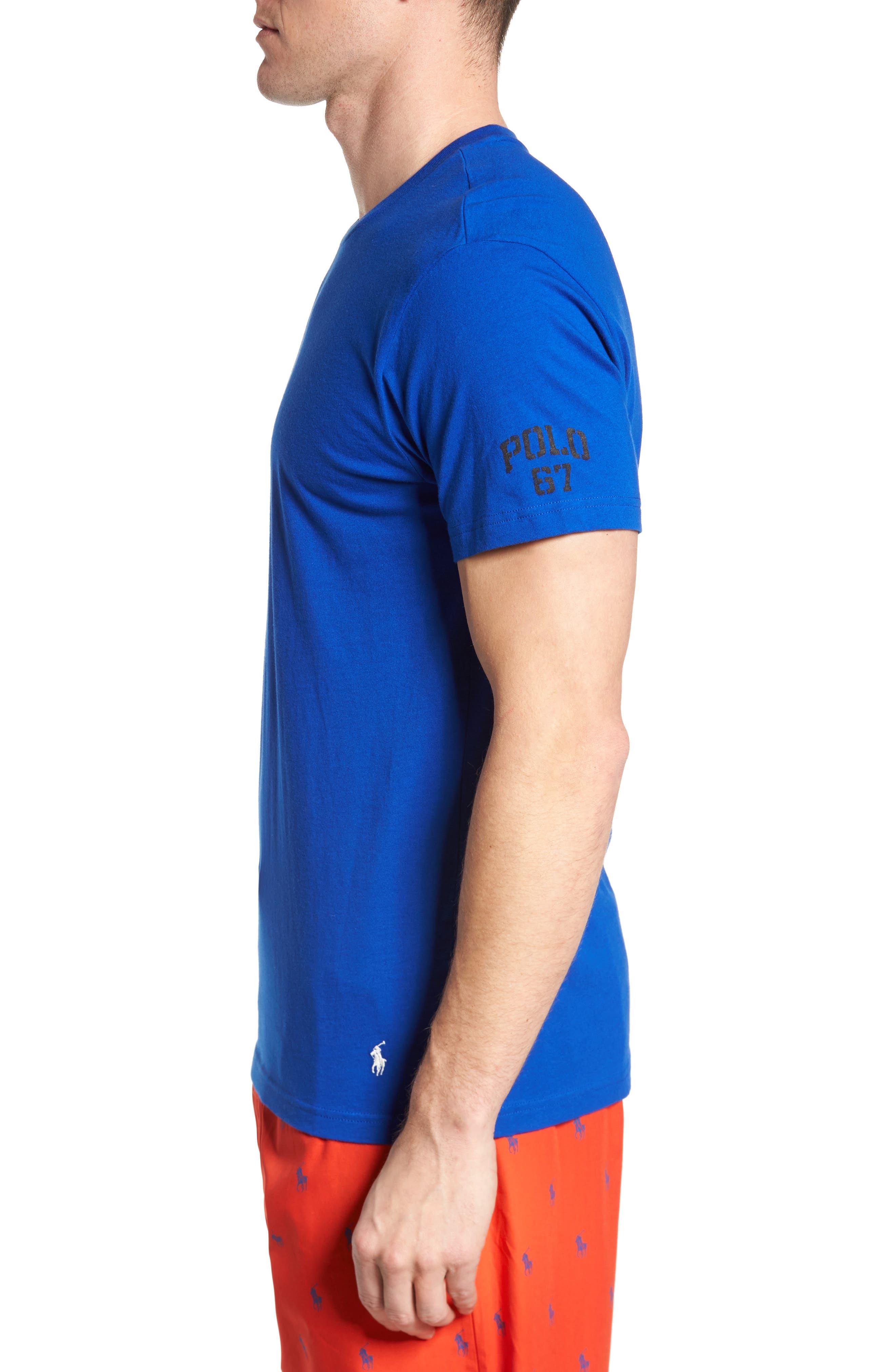 Polo Ralph Lauren Crewneck T-Shirt,                             Alternate thumbnail 3, color,                             414