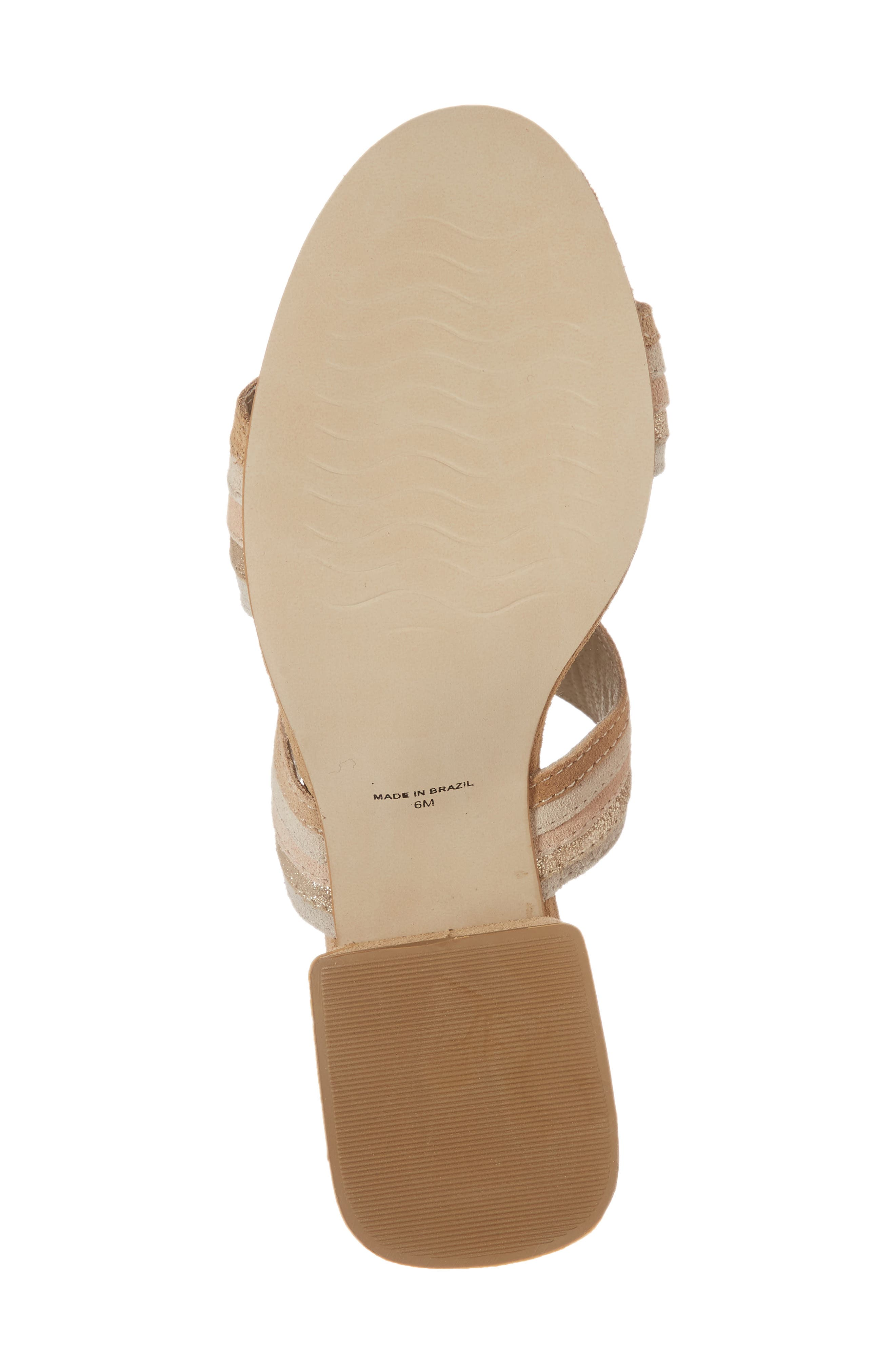 Bonita Slide Sandal,                             Alternate thumbnail 6, color,                             NATURAL SUEDE