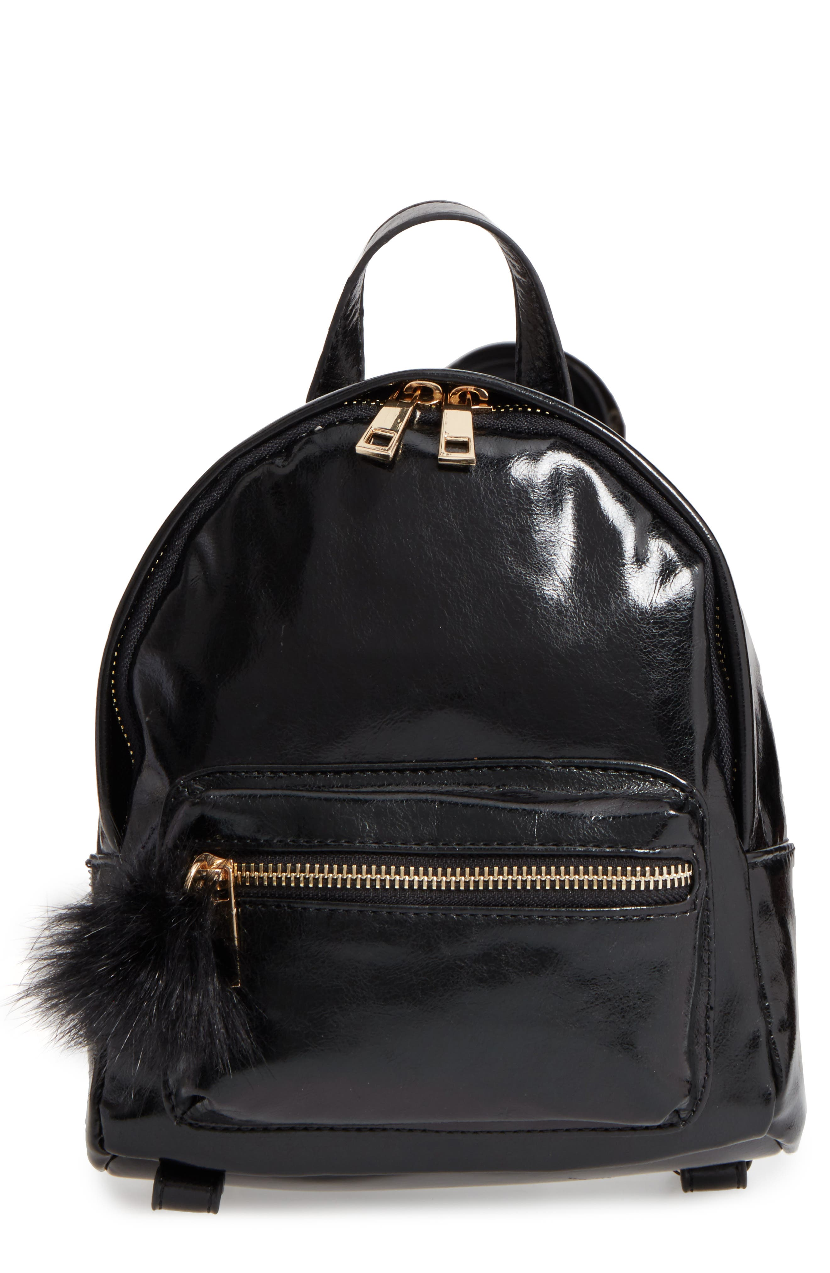 BP. Faux Leather Mini Backpack, Main, color, 002