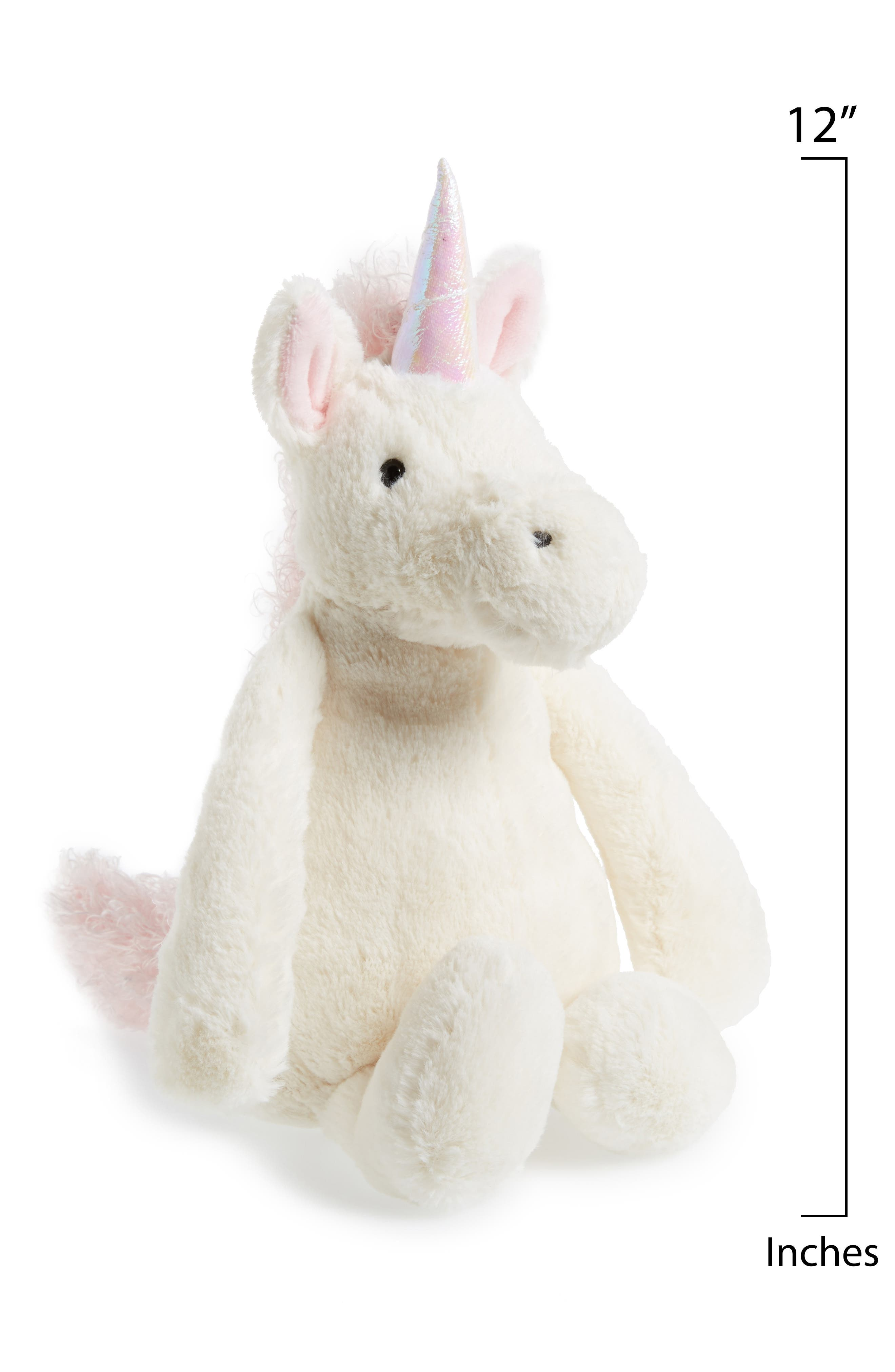 JELLYCAT,                             'Bashful Unicorn' Stuffed Animal,                             Alternate thumbnail 2, color,                             WHITE