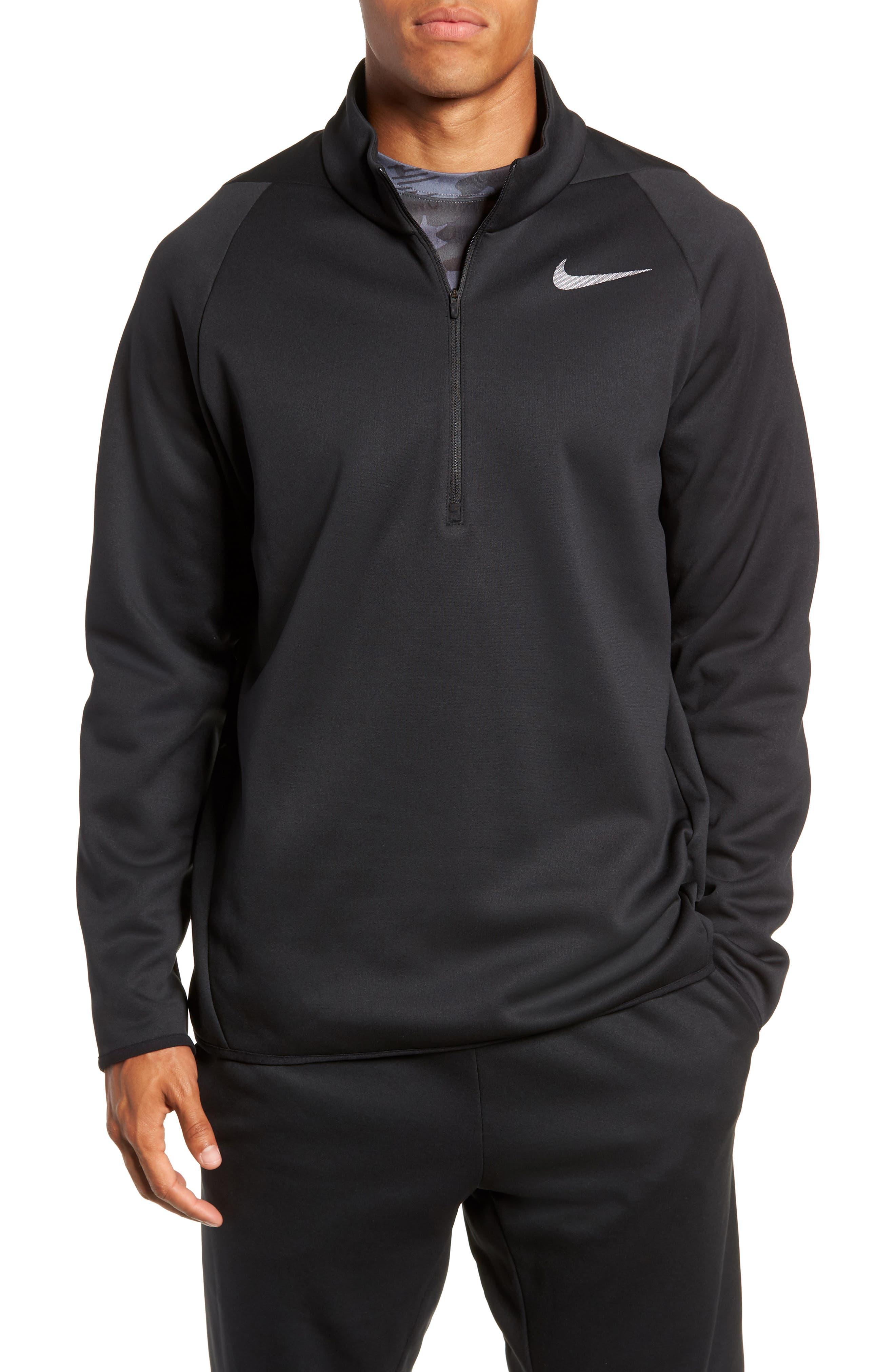 Quarter Zip Pullover,                         Main,                         color, BLACK/ DARK GREY