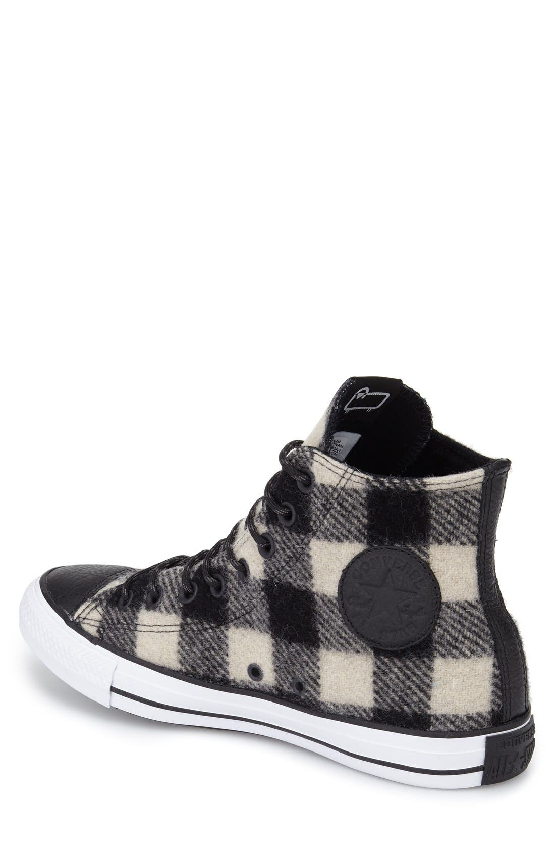 Chuck Taylor<sup>®</sup> All Star<sup>®</sup> Woolrich High Top Sneaker,                             Alternate thumbnail 3, color,                             001