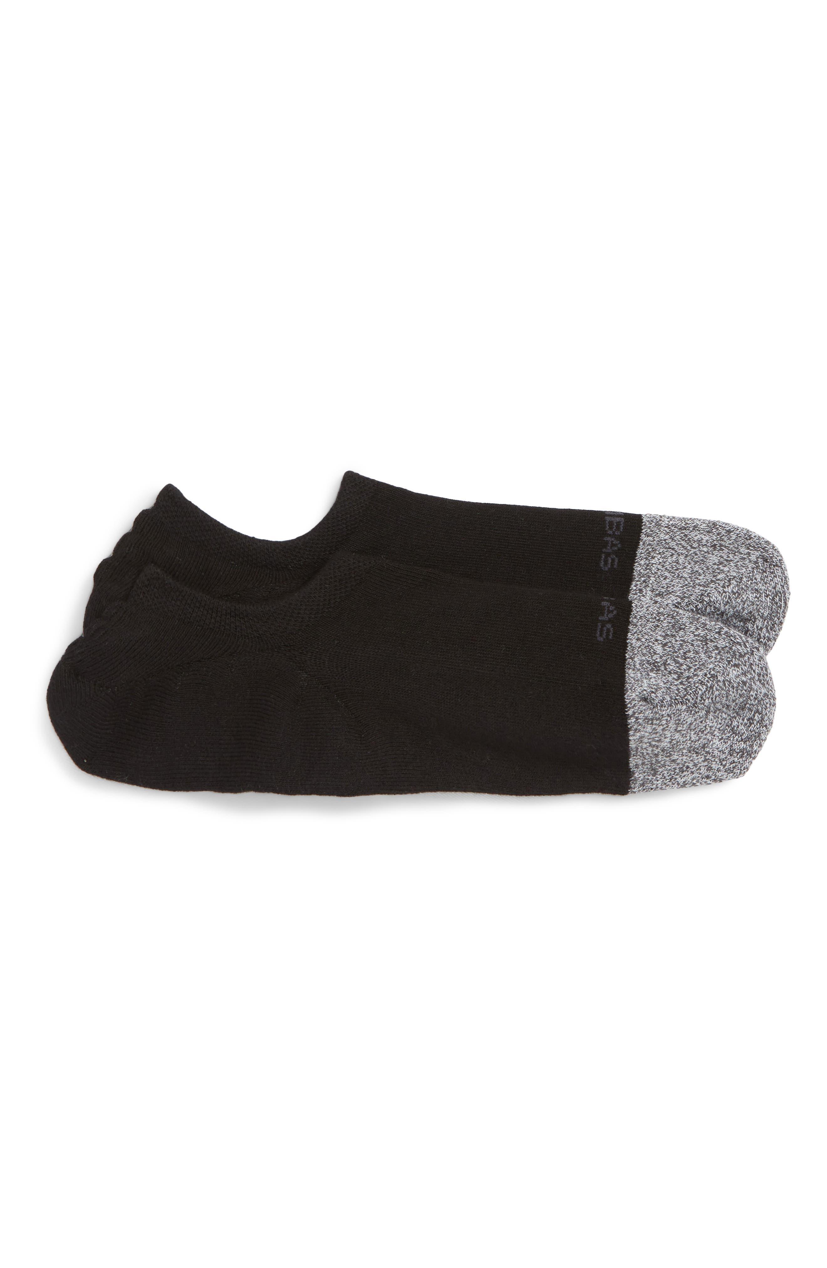 Cushioned No-Show Socks,                             Main thumbnail 1, color,                             BLACK