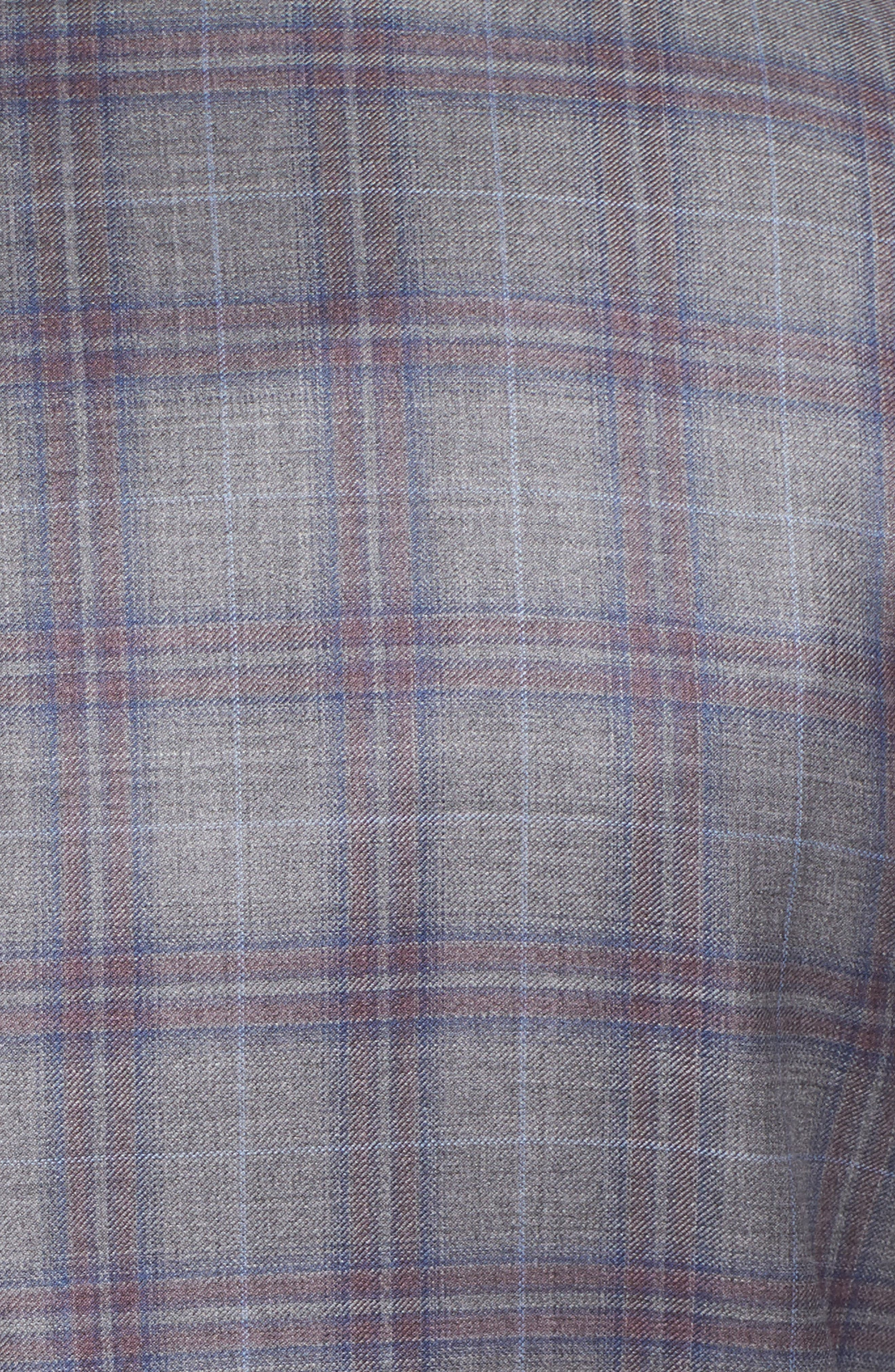 Jay Trim Fit Plaid Wool Suit,                             Alternate thumbnail 7, color,                             020