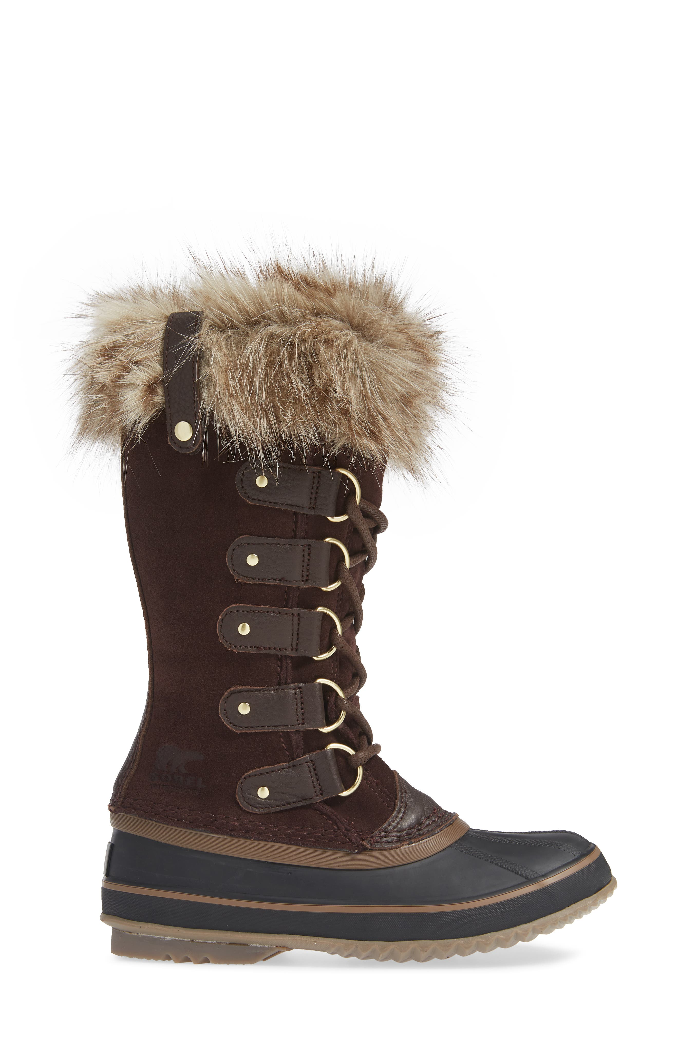 'Joan of Arctic' Waterproof Snow Boot,                             Alternate thumbnail 3, color,                             CATTAIL