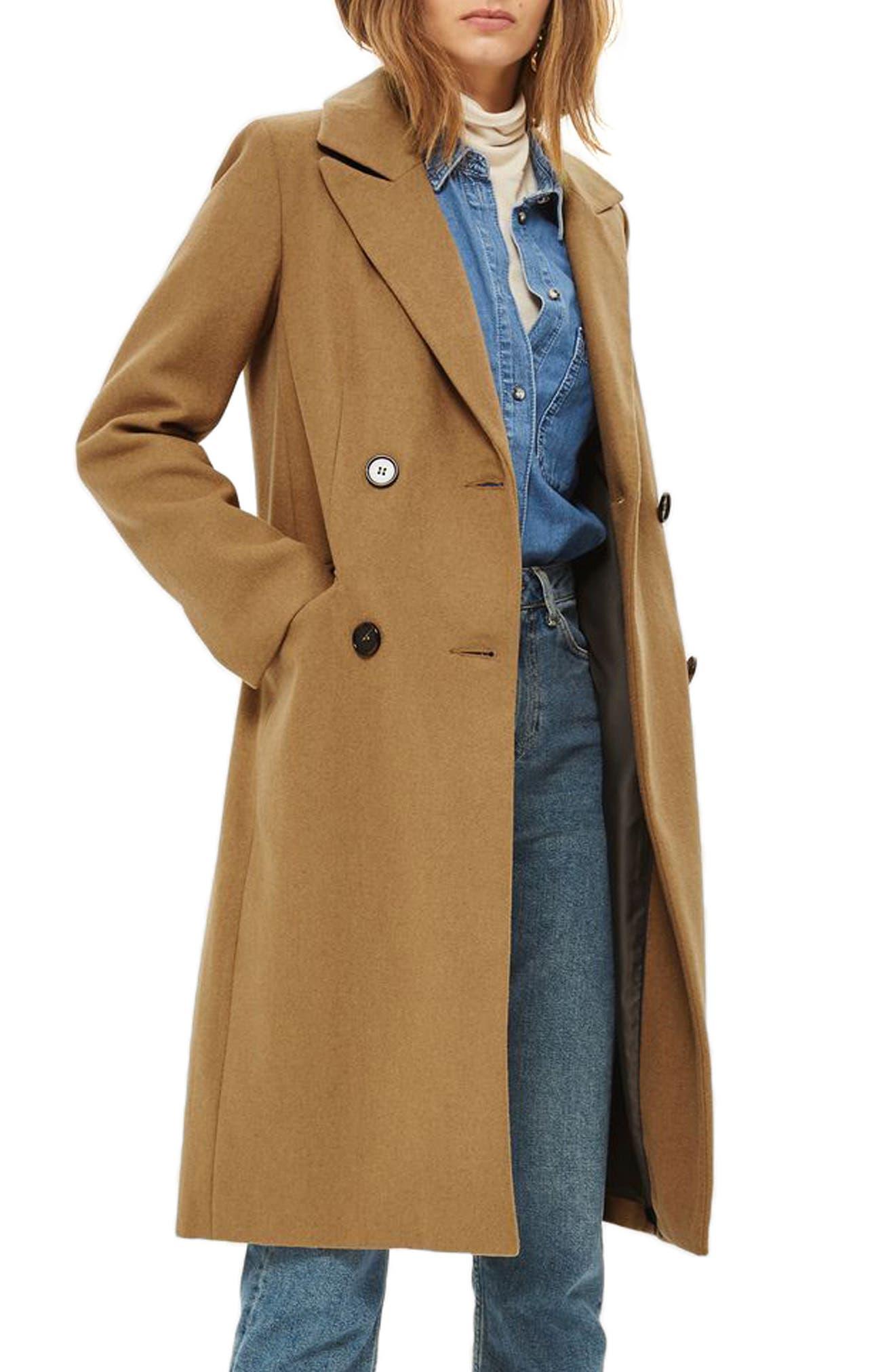 Editors Double Breasted Coat,                             Main thumbnail 1, color,