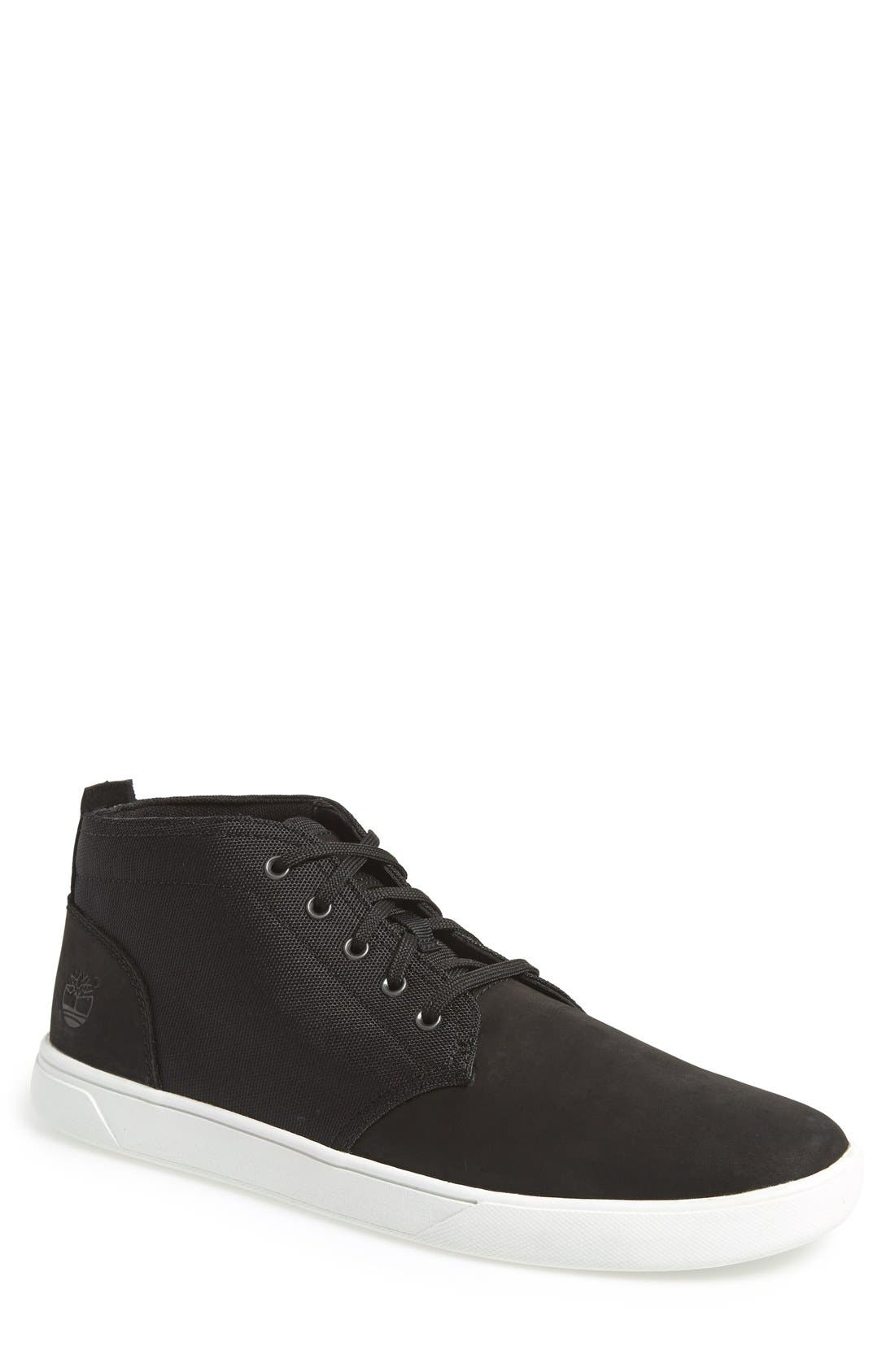 Earthkeepers<sup>™</sup> 'Groveton' Chukka Sneaker,                         Main,                         color, BLACK NUBUCK/ CANVAS