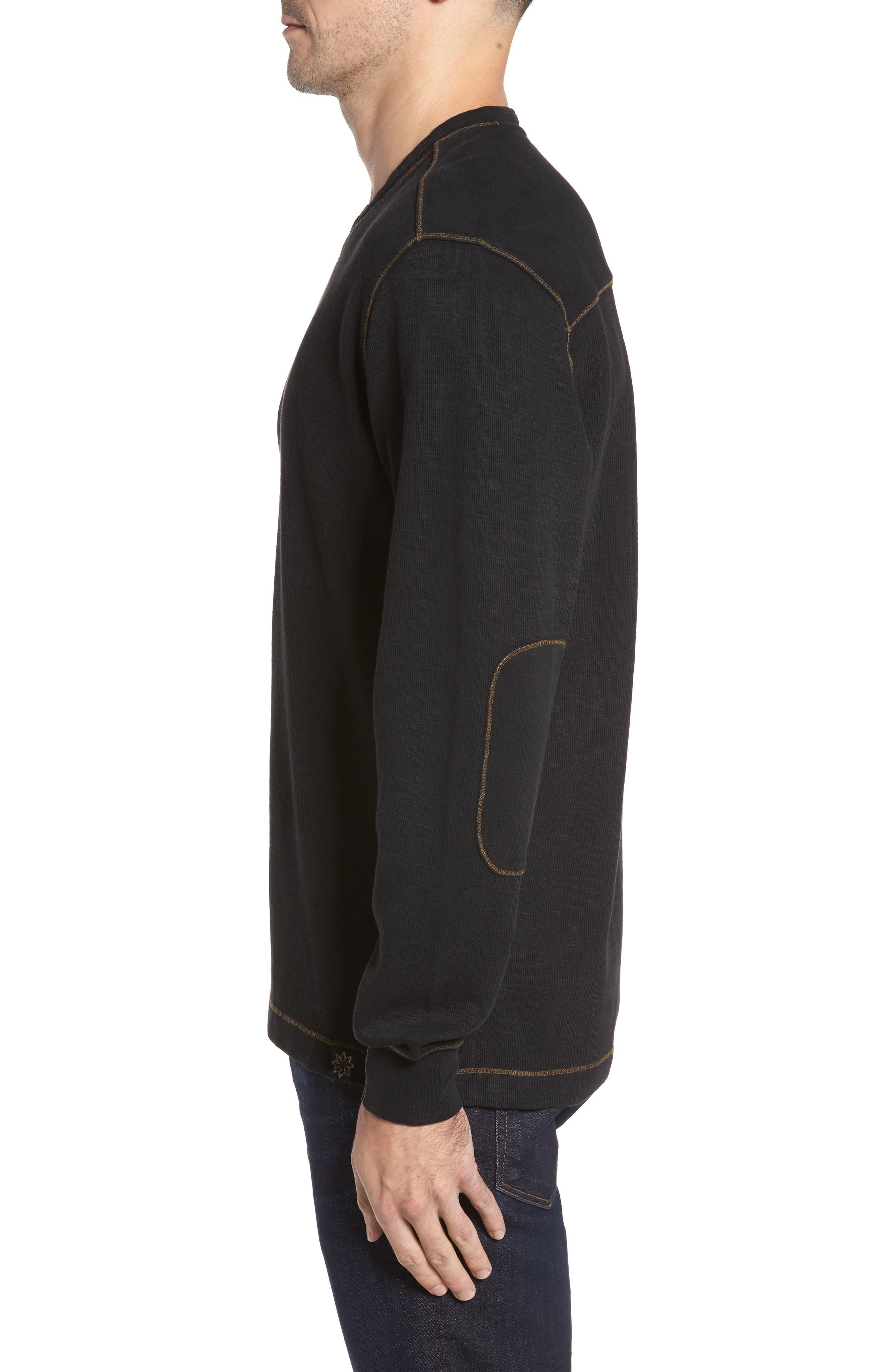 Anthony Slubbed Long Sleeve V-Neck T-Shirt,                             Alternate thumbnail 3, color,                             001
