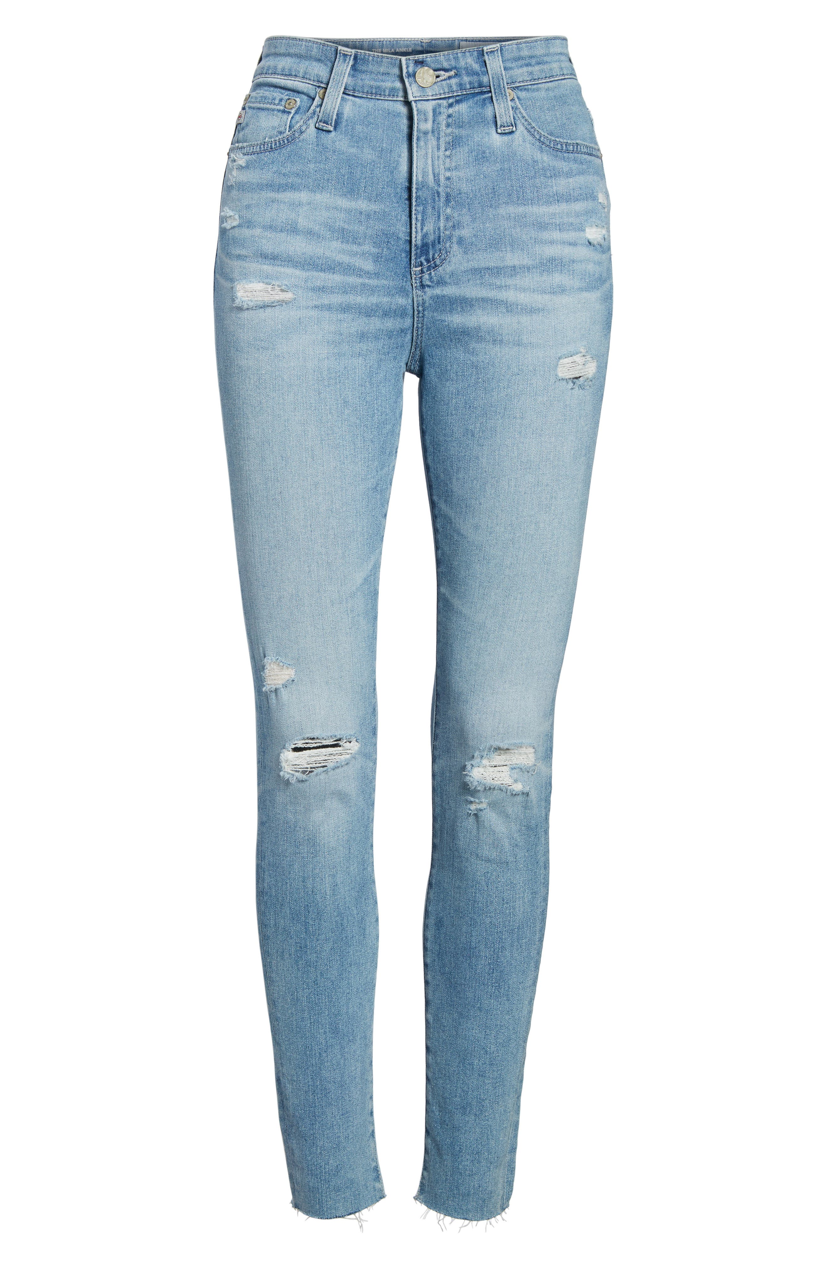 Mila High Waist Ankle Skinny Jeans,                             Alternate thumbnail 7, color,                             426