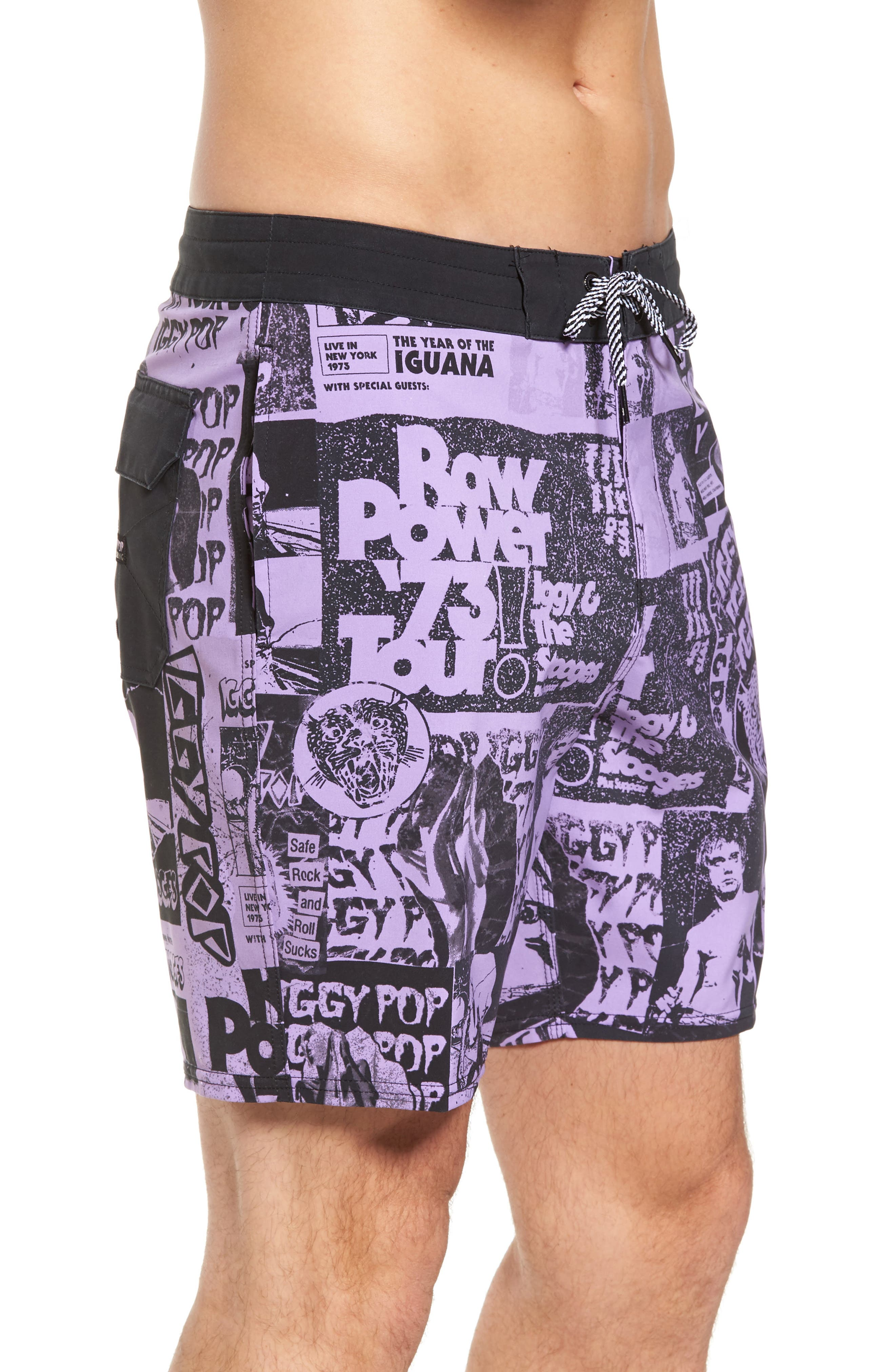 x Iggy Pop Sundays Poster LT Board Shorts,                             Alternate thumbnail 3, color,                             500