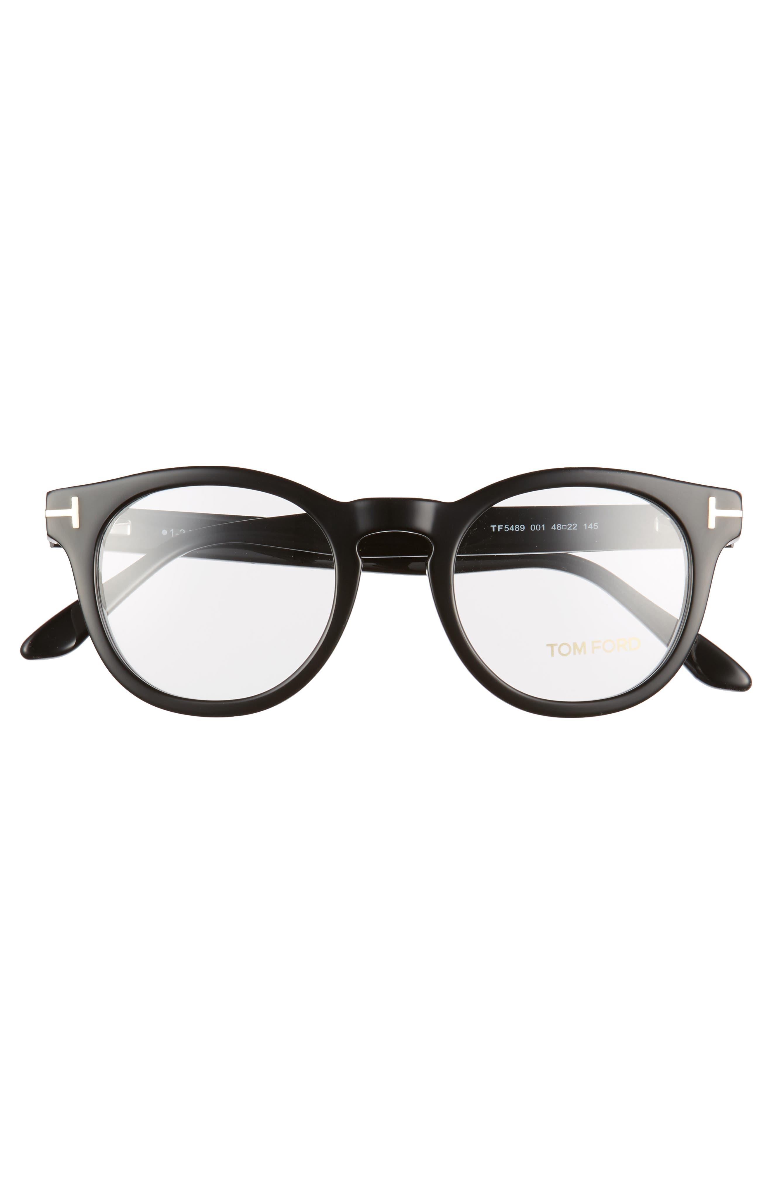 48mm Round Optical Glasses,                             Alternate thumbnail 3, color,                             001