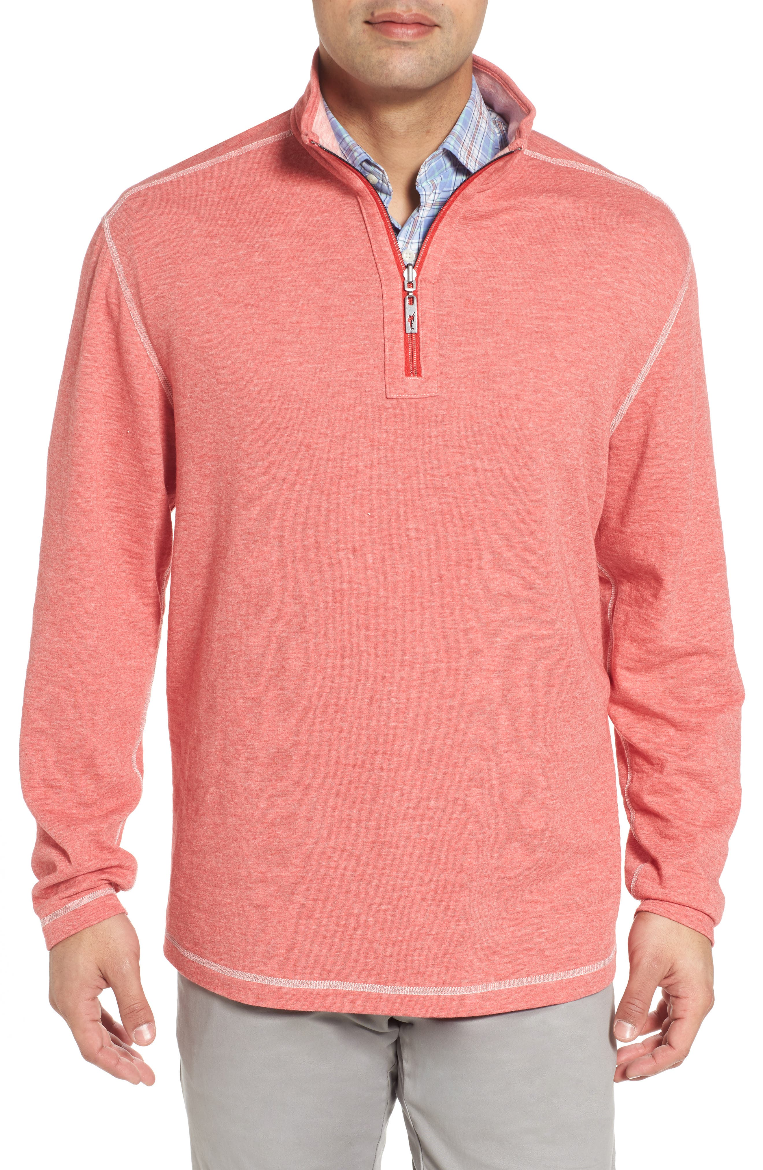 Sea Glass Reversible Quarter Zip Pullover,                             Alternate thumbnail 41, color,