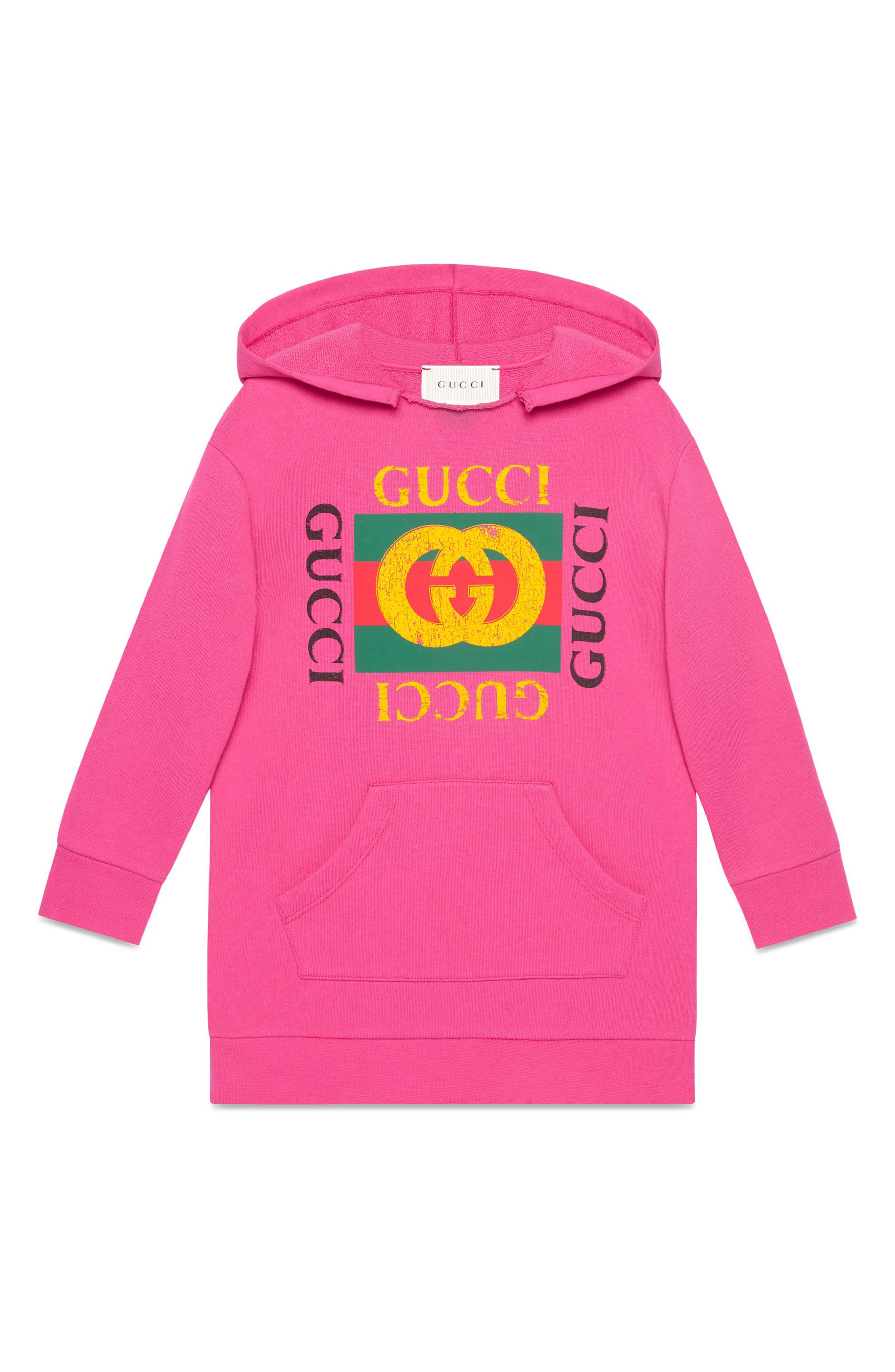 Logo Graphic Hoodie Dress,                             Alternate thumbnail 4, color,                             667