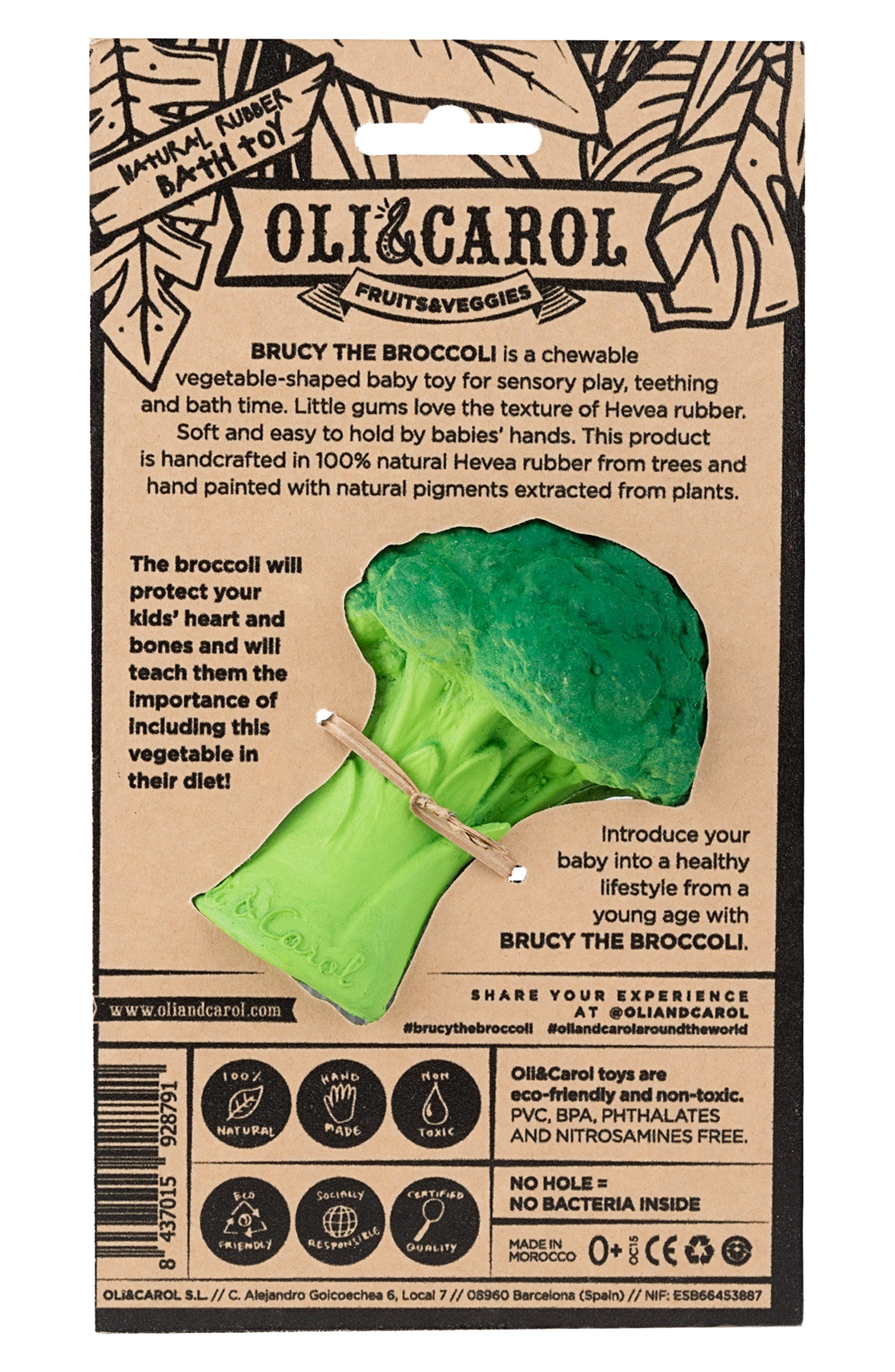 Oli and Carol Brucy the Broccoli Teething Toy,                             Alternate thumbnail 4, color,                             GREEN
