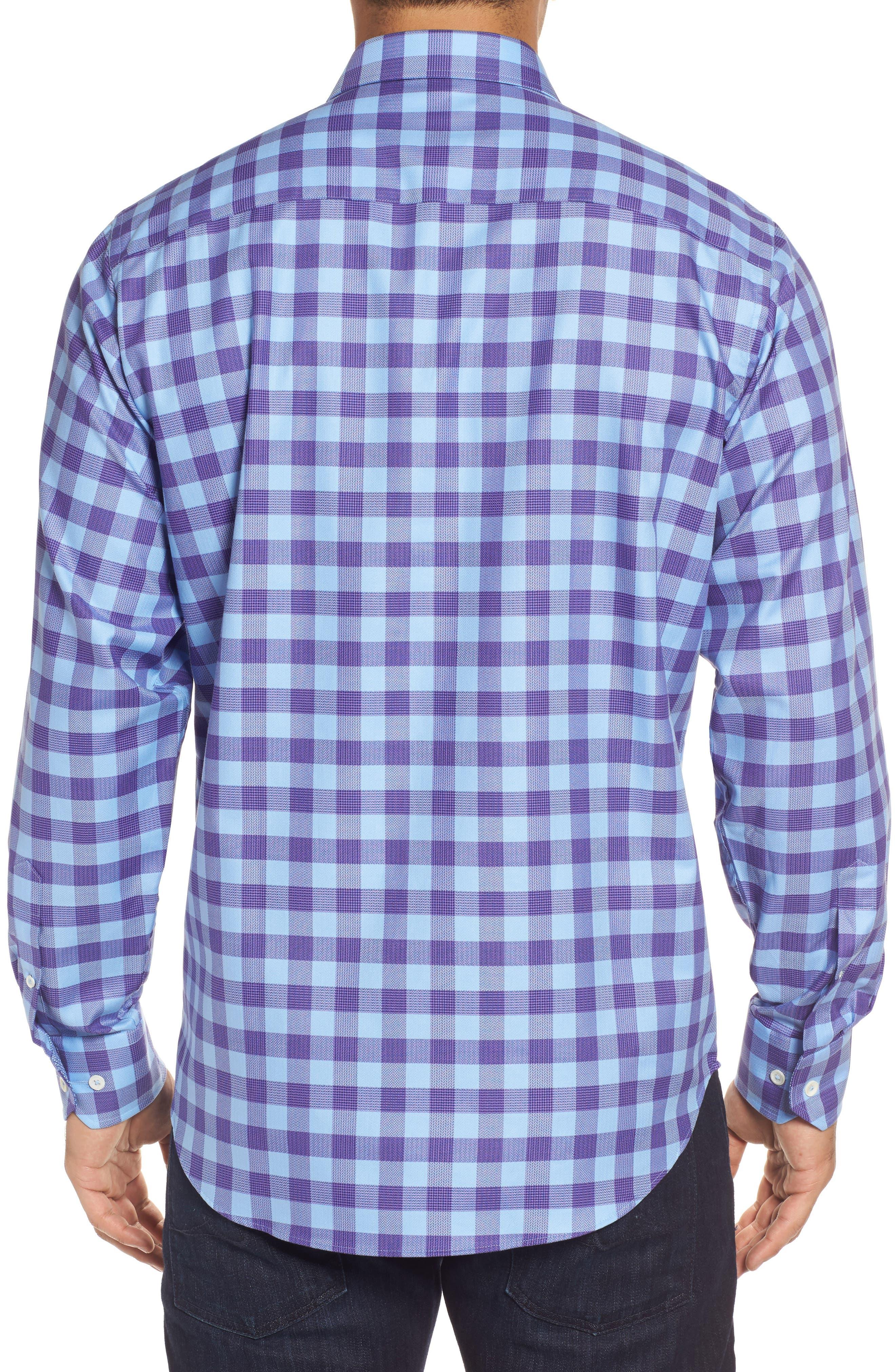 Classic Fit Woven Check Sport Shirt,                             Alternate thumbnail 2, color,                             513