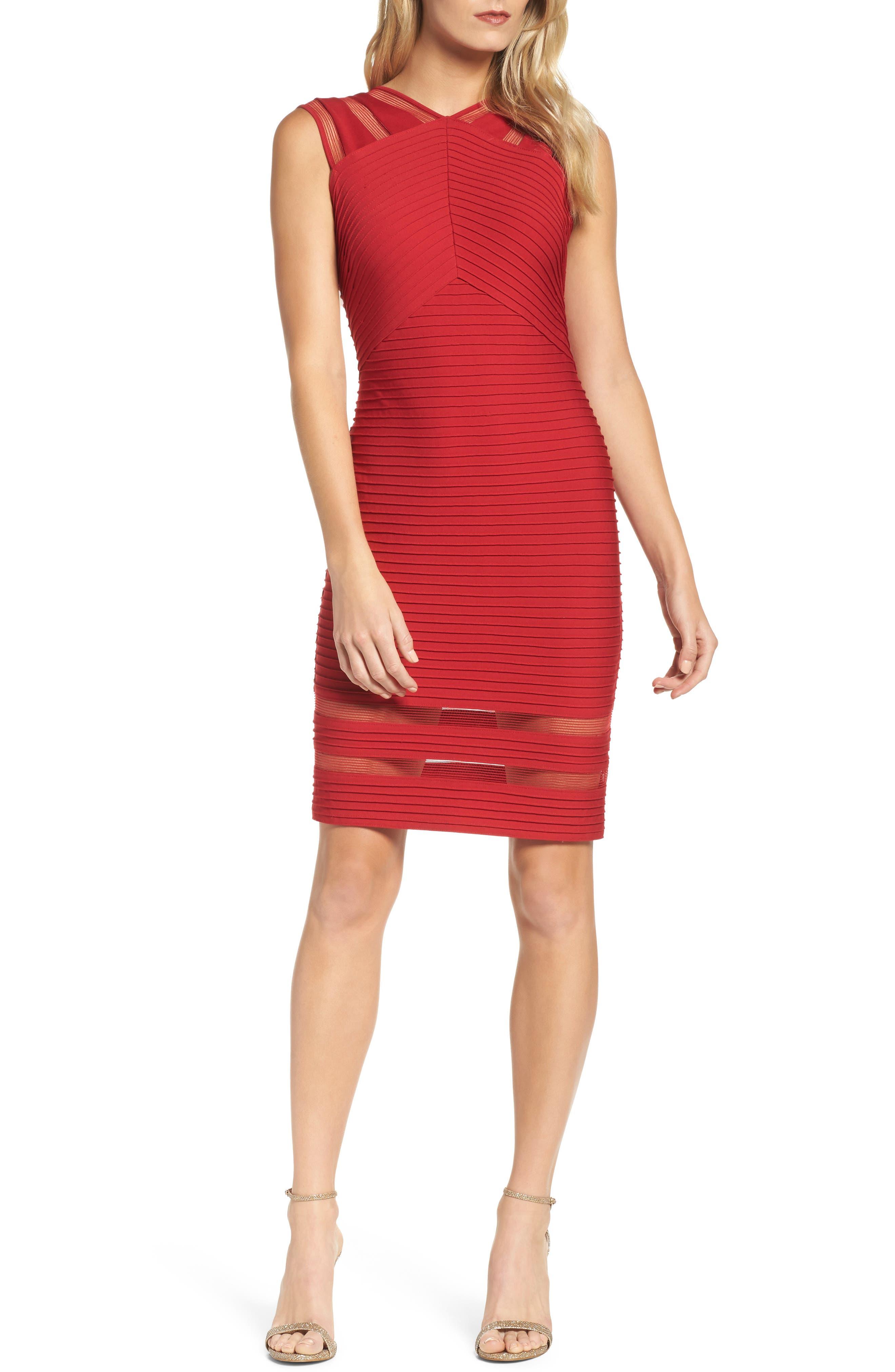 Sleeveless Pintuck Dress,                             Main thumbnail 1, color,