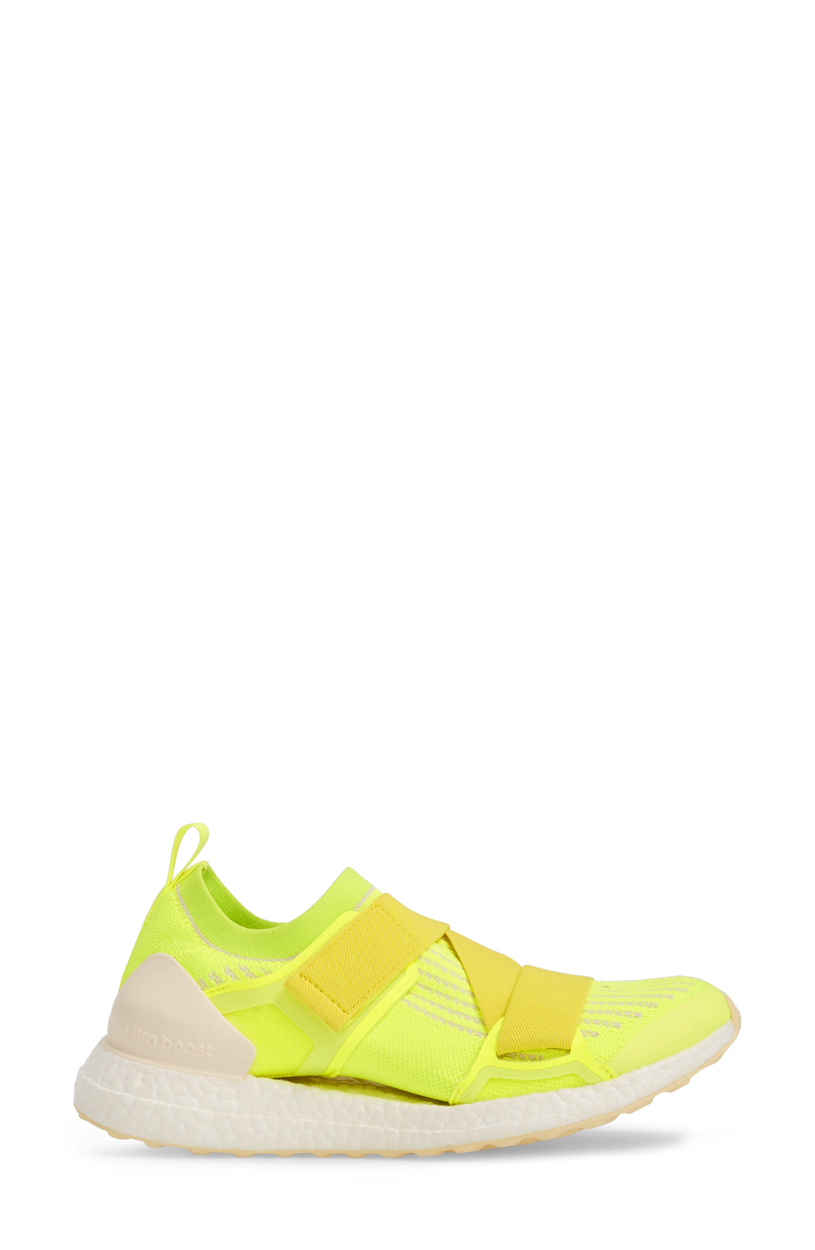 UltraBoost X Running Shoe,                             Alternate thumbnail 3, color,                             SOLAR YELLOW/ YELLOW/ SUN