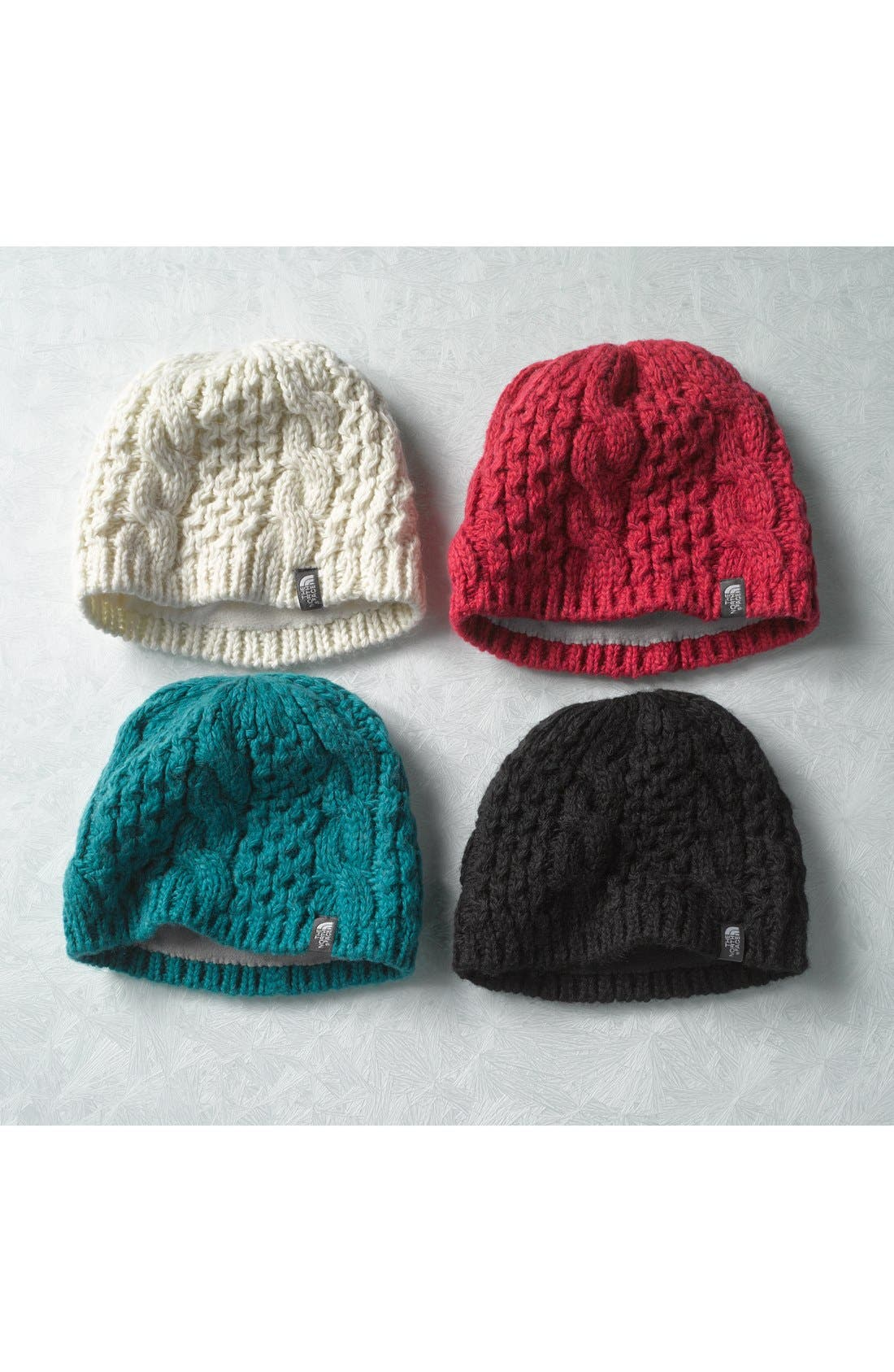 'Minna' Cable Knit Beanie,                             Alternate thumbnail 2, color,                             002
