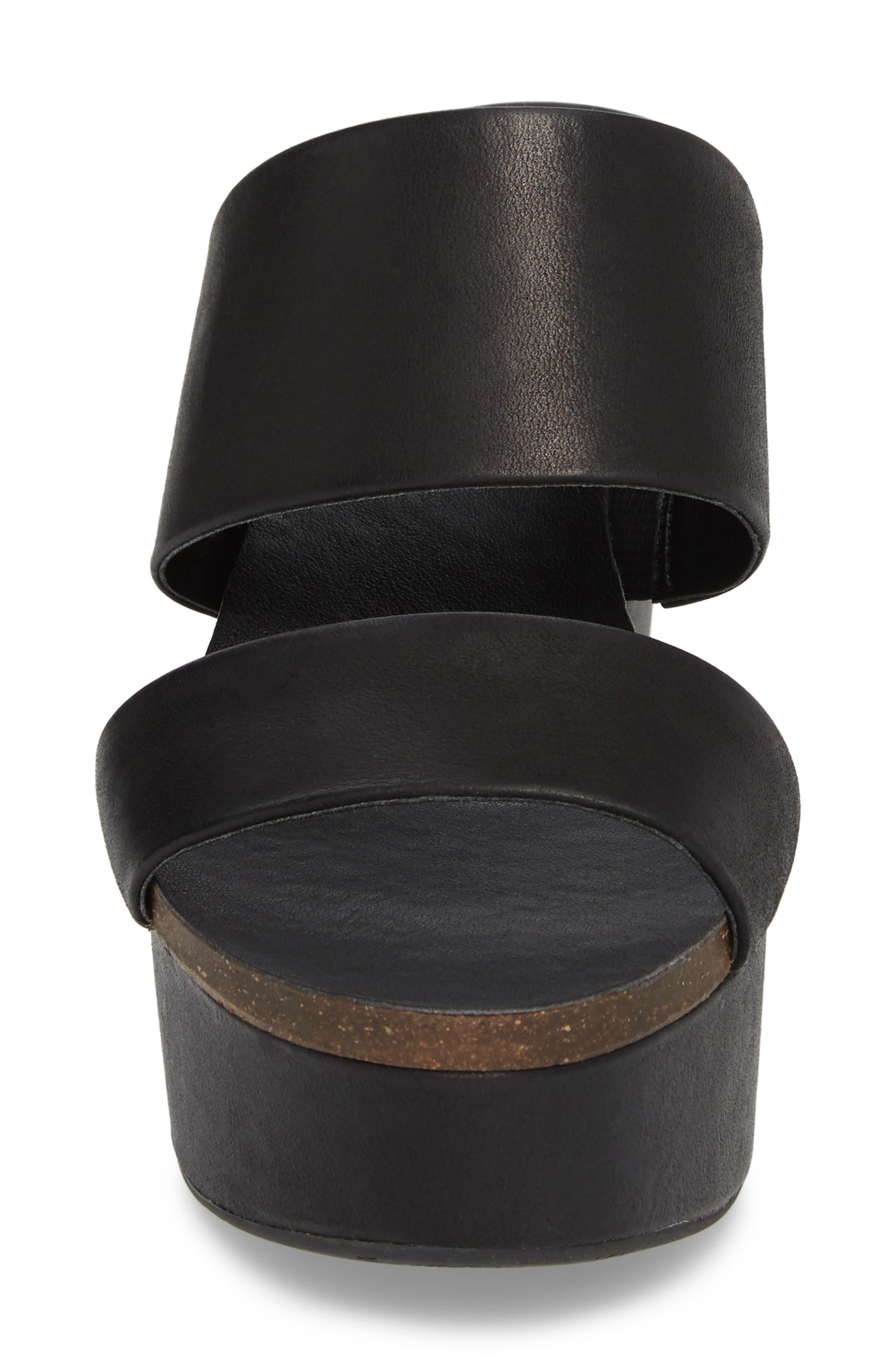Varenia Platform Wedge Sandal,                             Alternate thumbnail 4, color,                             001