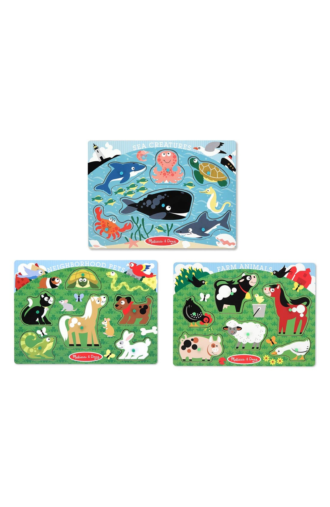 Set of 3 Peg Puzzles,                             Main thumbnail 1, color,                             960