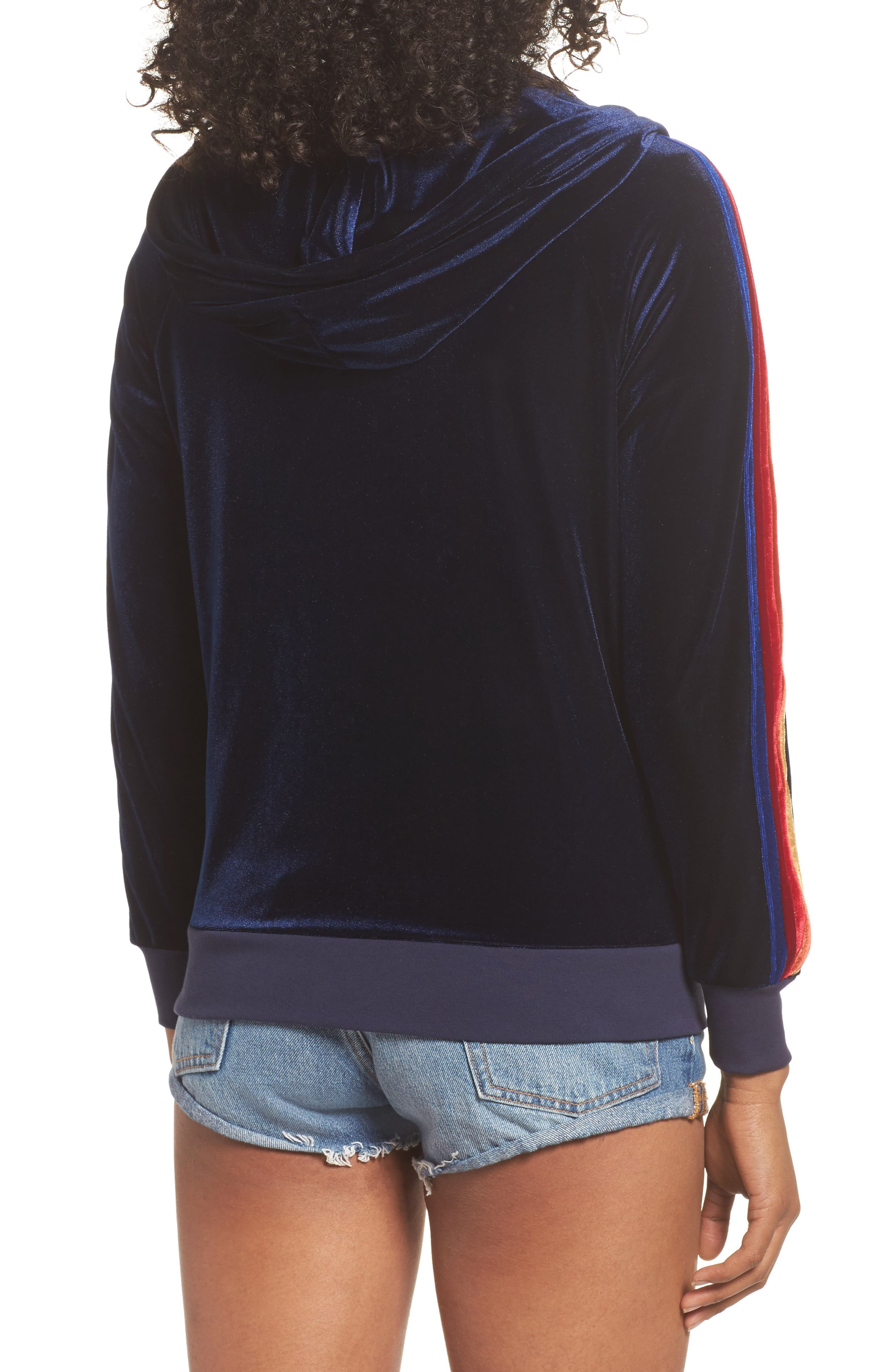 Classic Velvet Hoodie,                             Alternate thumbnail 2, color,                             NAVY