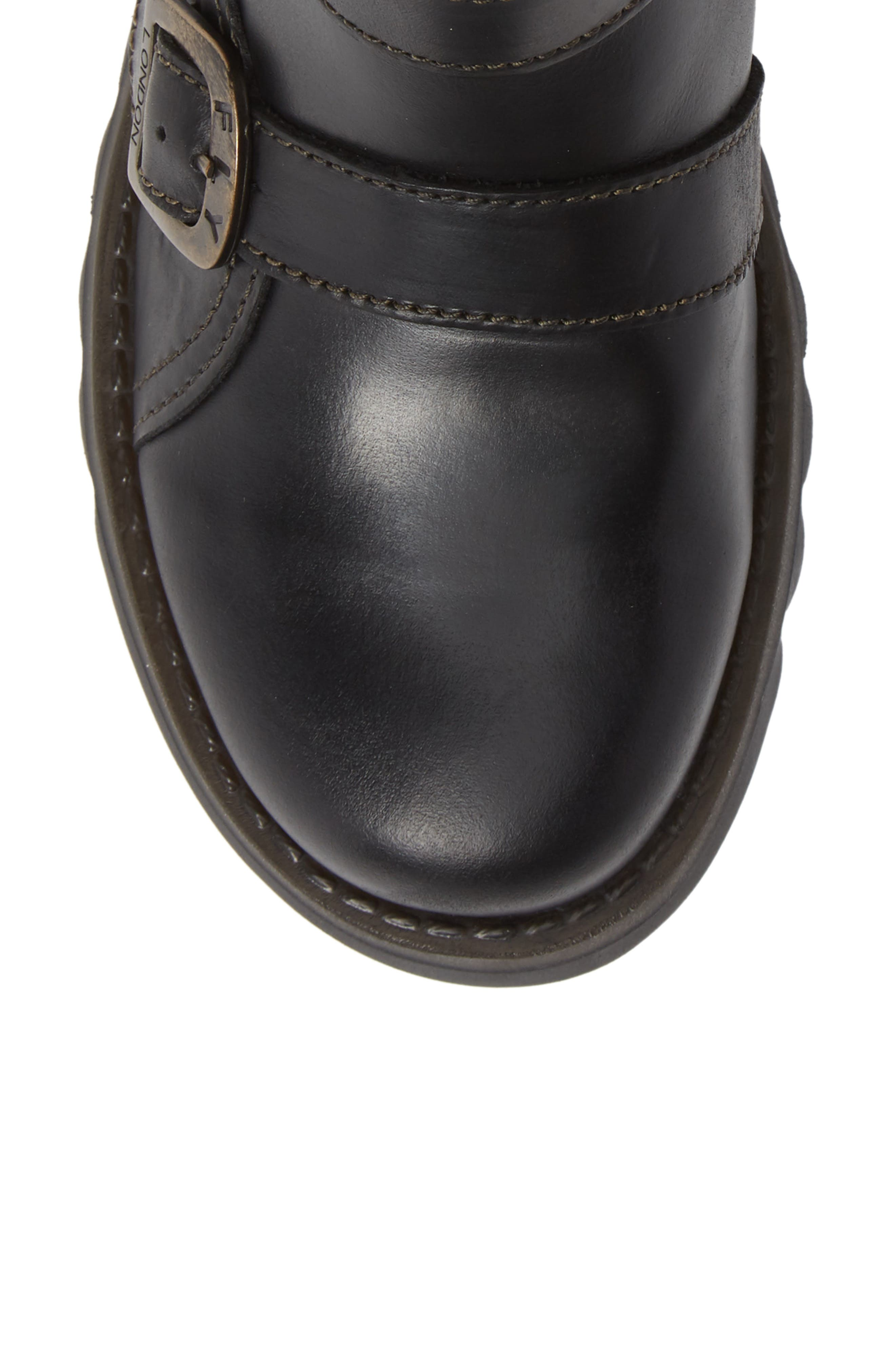 Selk Bootie,                             Alternate thumbnail 5, color,                             BLACK OIL SUEDE