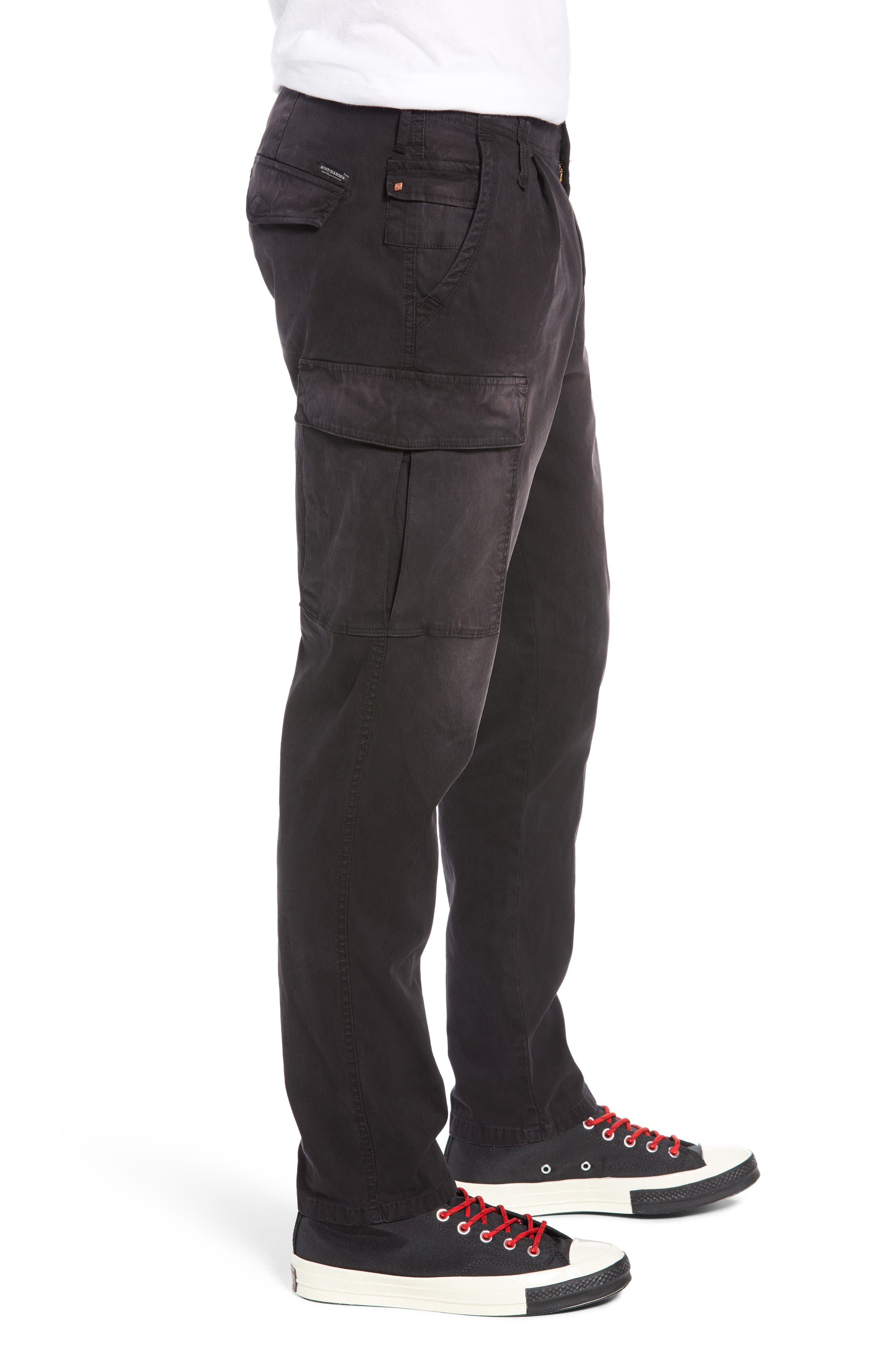 Loose Taper Fit Washed Cargo Pants,                             Alternate thumbnail 3, color,                             ANTRA