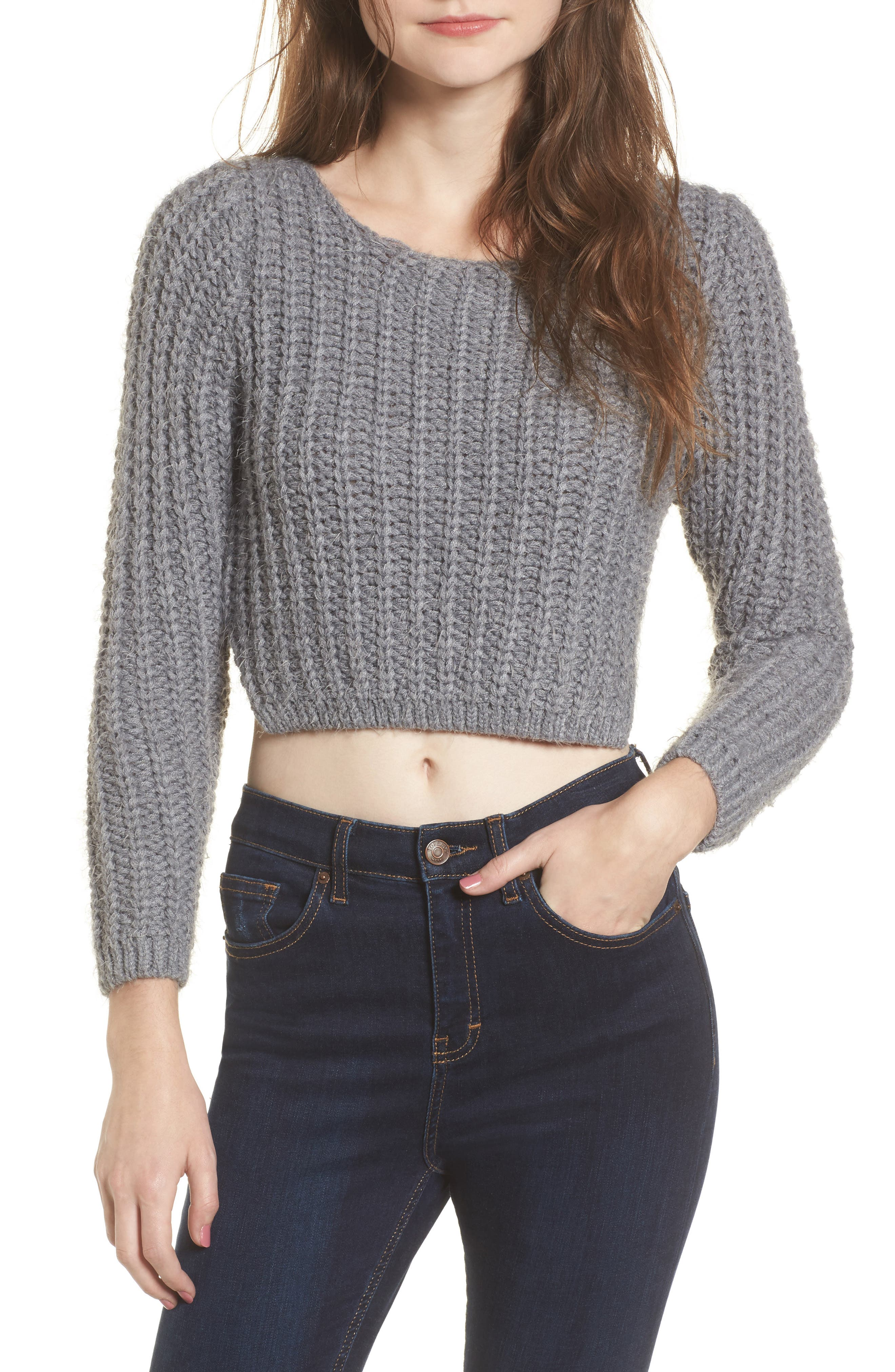 Bethany Crop Sweater,                             Main thumbnail 1, color,                             020