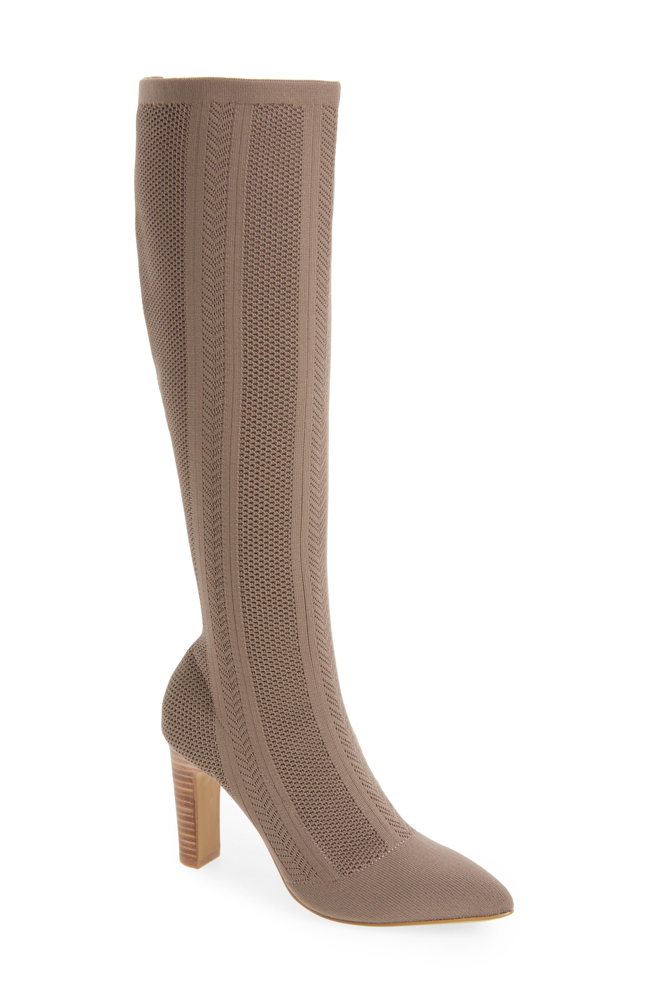Charles By Charles David Davis Knit Boot- Grey