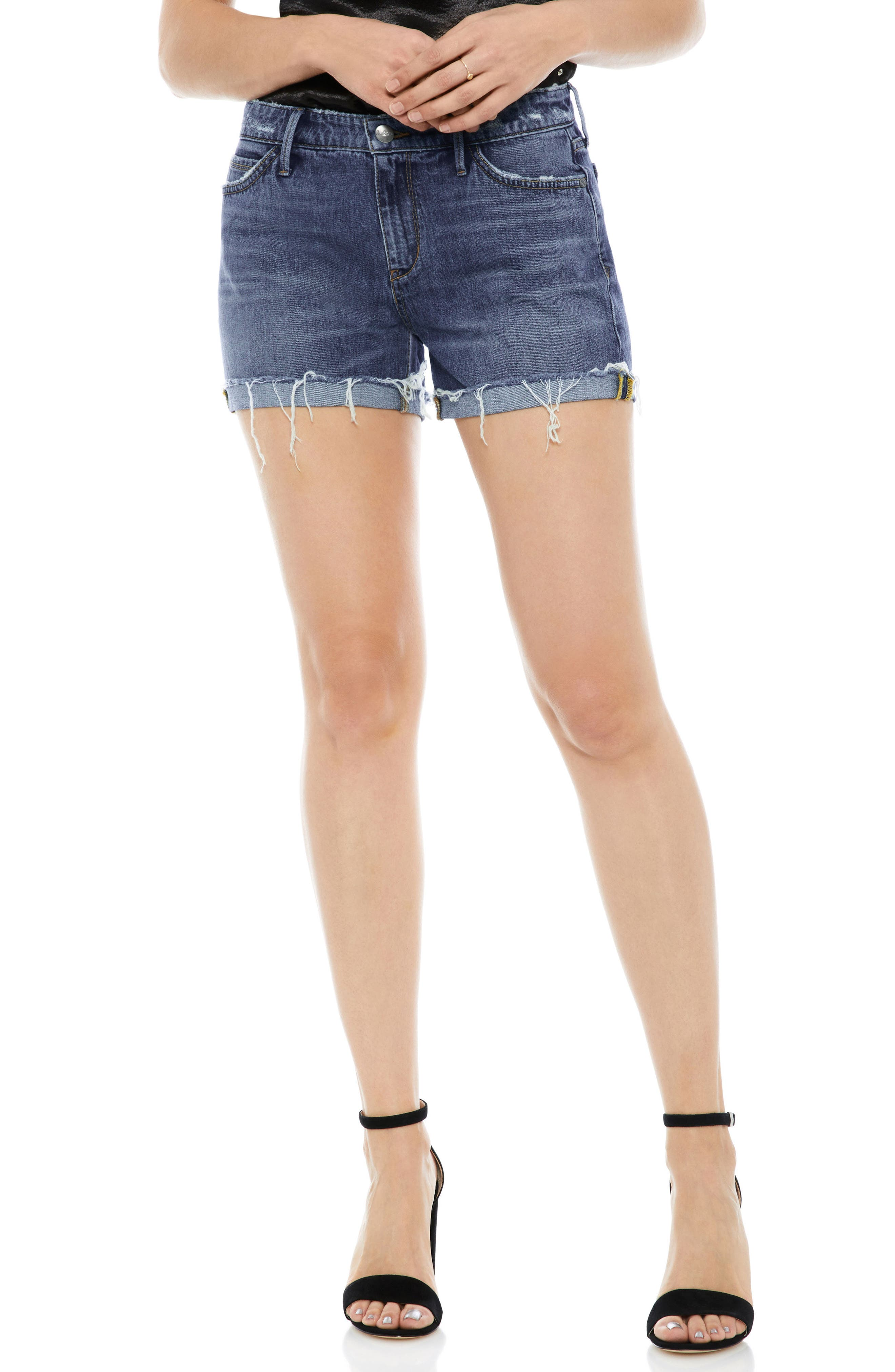 The Drew Cutoff Denim Shorts,                         Main,                         color, 421
