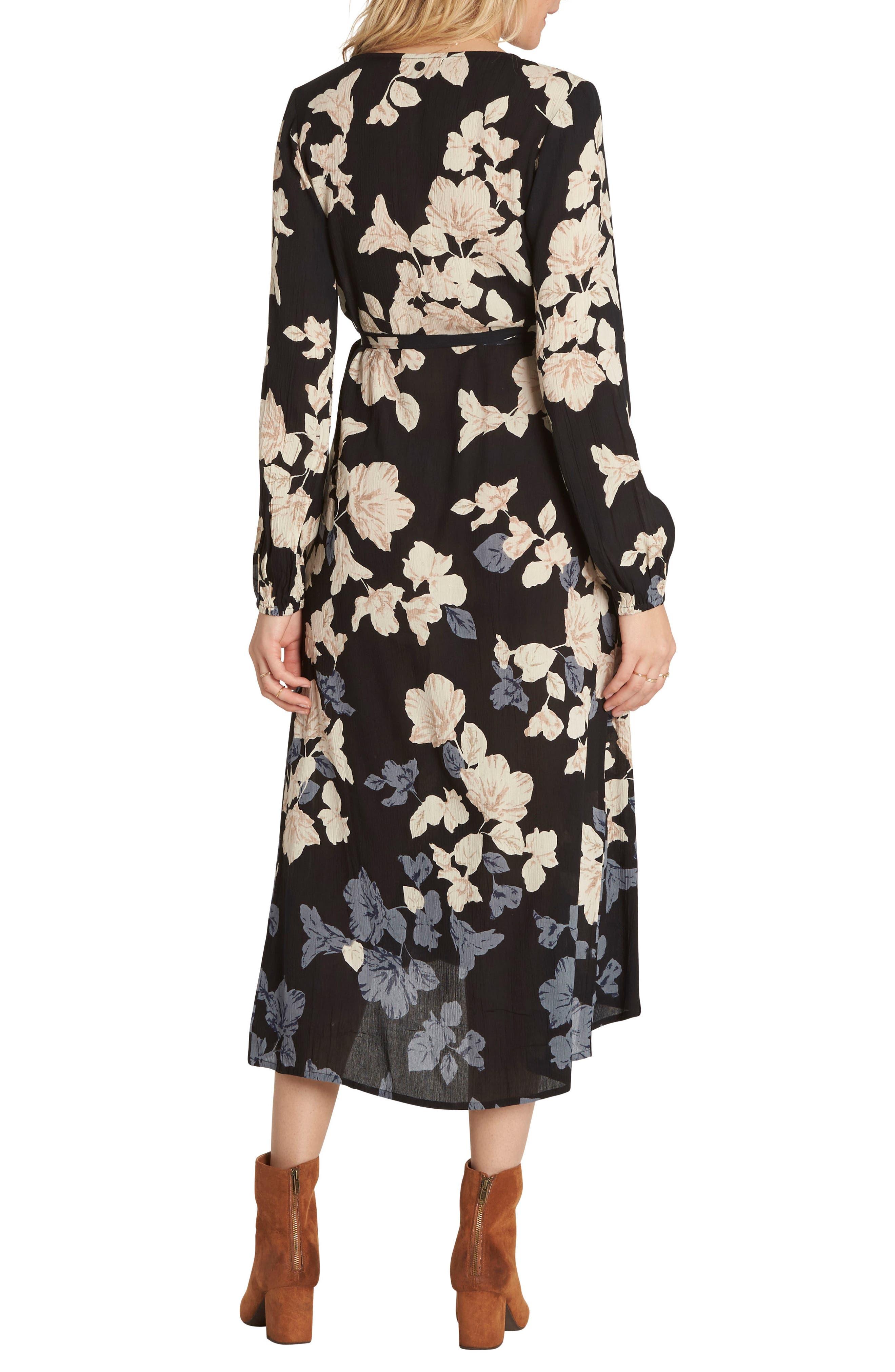 Floral Fever Midi Dress,                             Alternate thumbnail 2, color,                             001
